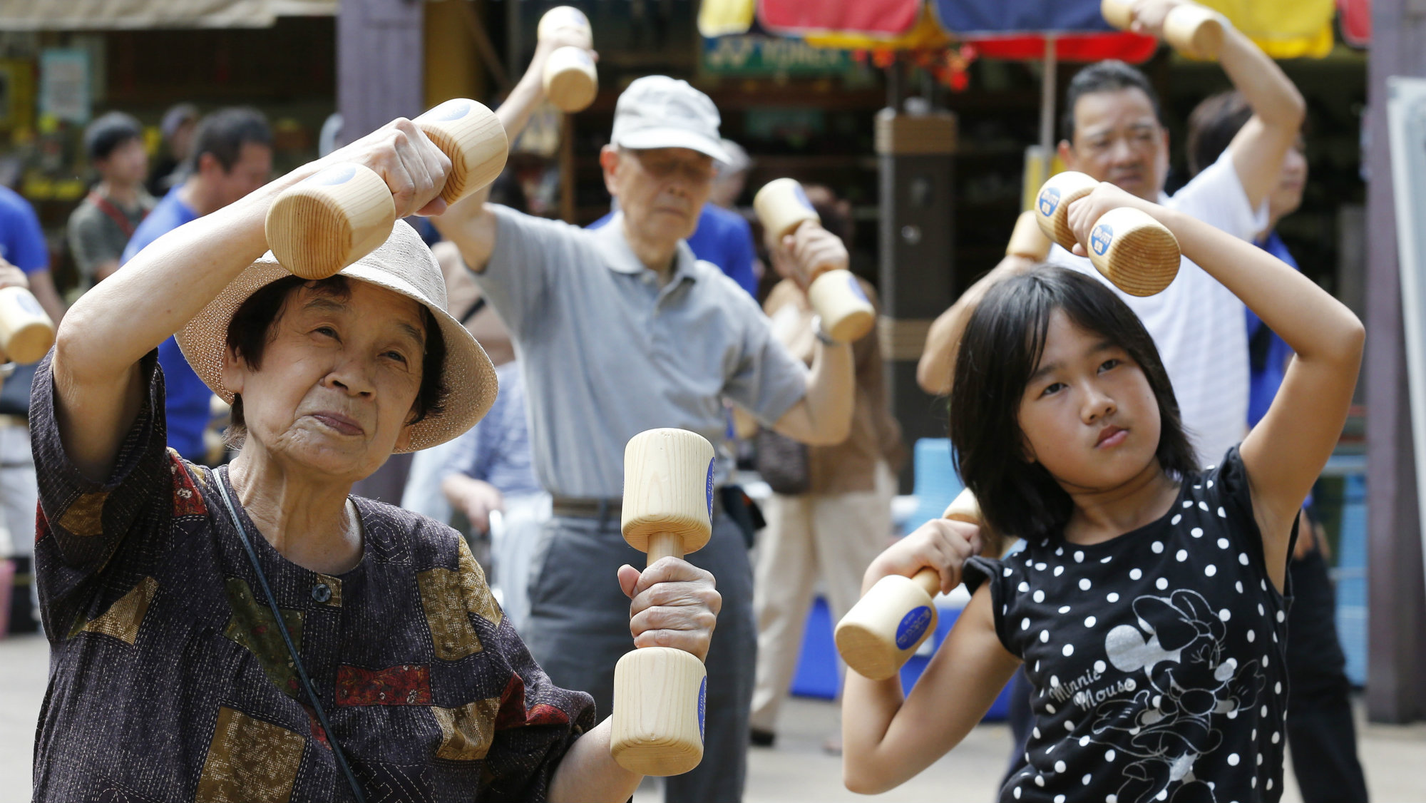 Heavy lifting for Japan's youth.