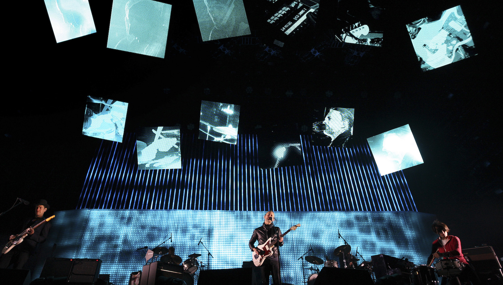 Radiohead performs at the Coachella Valley Music and Arts Festival in Indio, California April 14, 2012. REUTERS/David McNew/File Photo - RTX2COSN