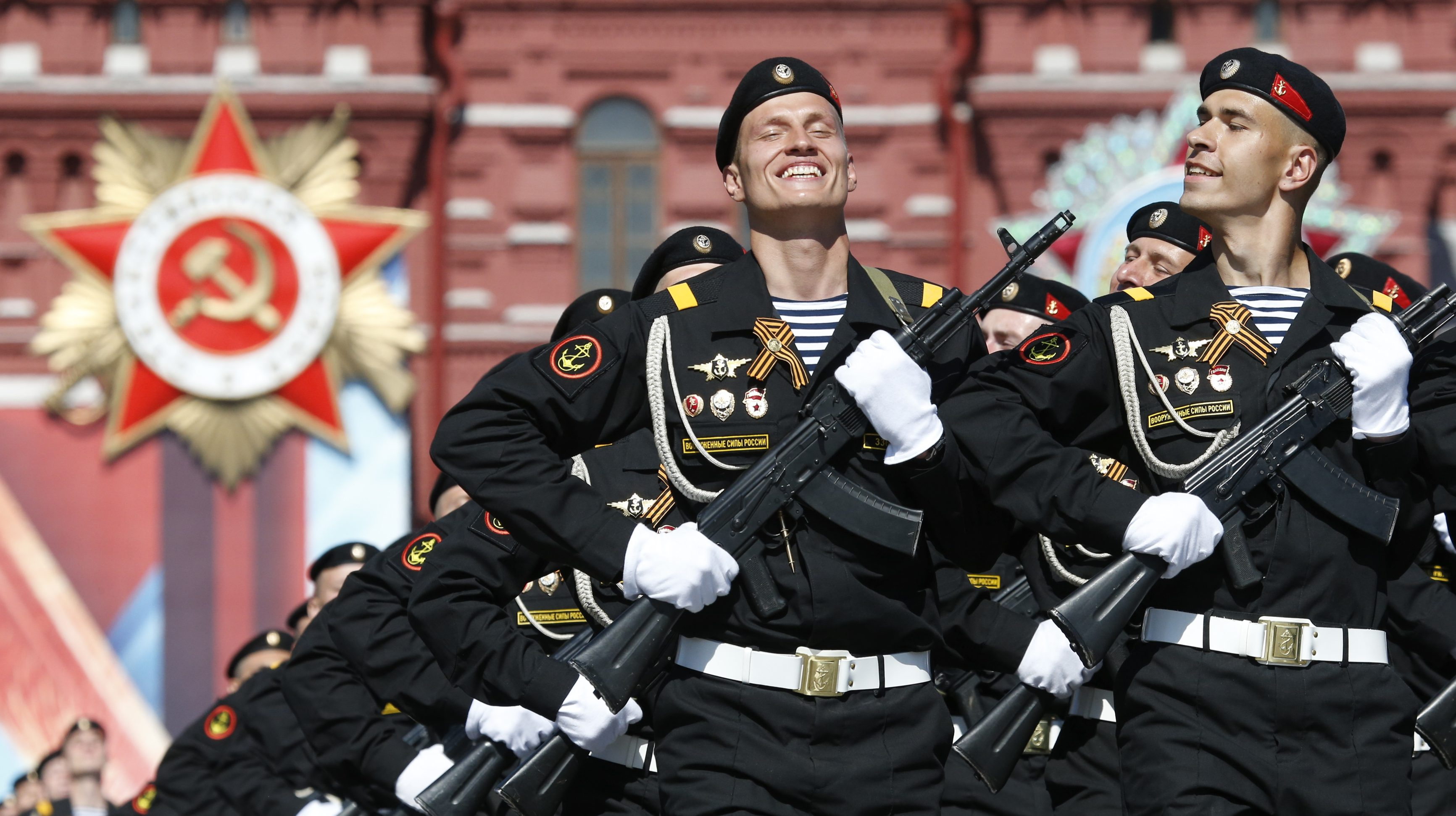 Russia celebrates World War Two Victory Day with a massive