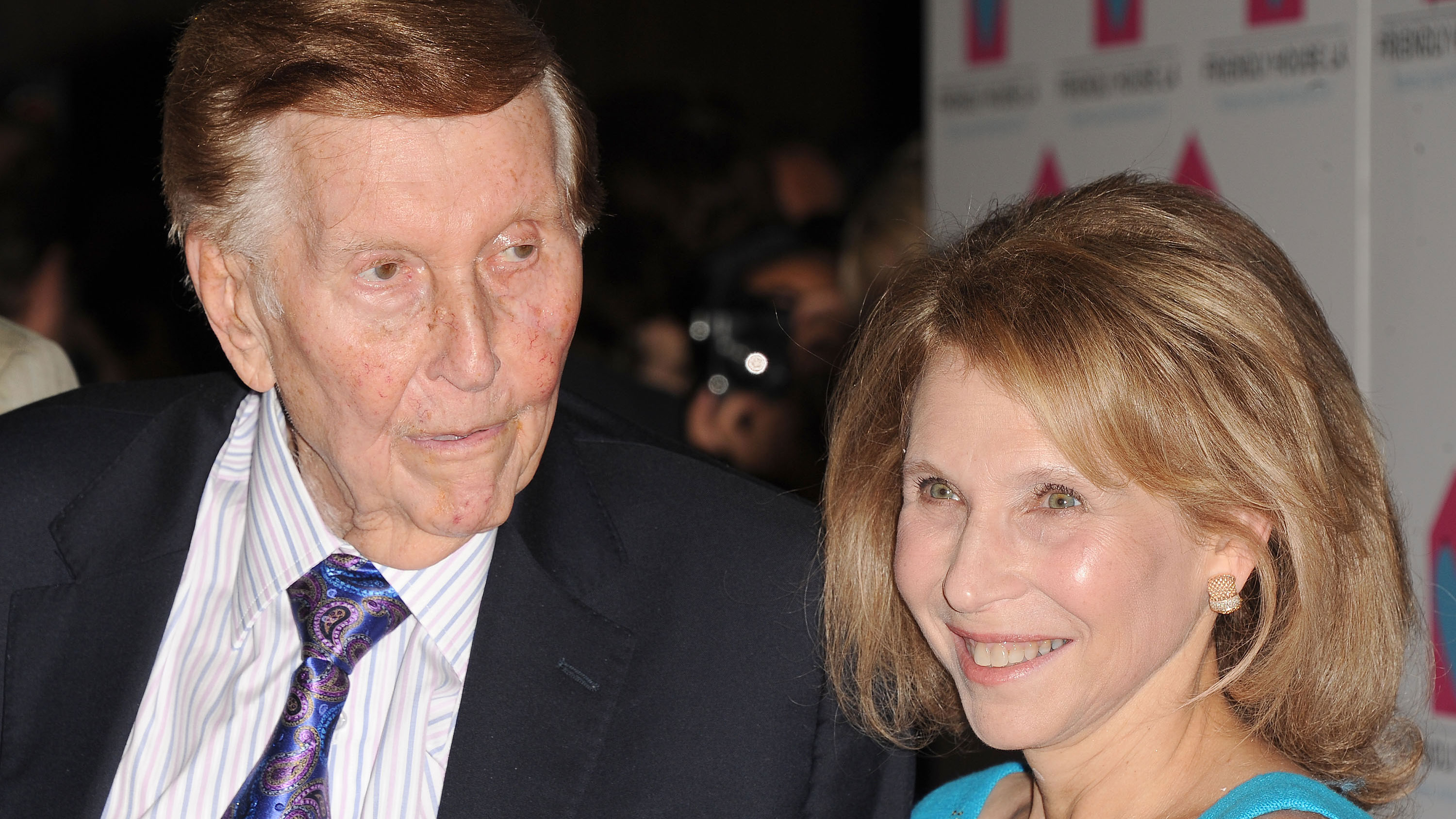 Sumner Redstone, at left, and Shari Ellin Redstone is seen at the LA Friendly House Luncheon on Saturday, Oct. 27, 2012 in Beverly Hills, Calif. ( Photo by Katy Winn/Invision for LA Friendly House/AP Images)