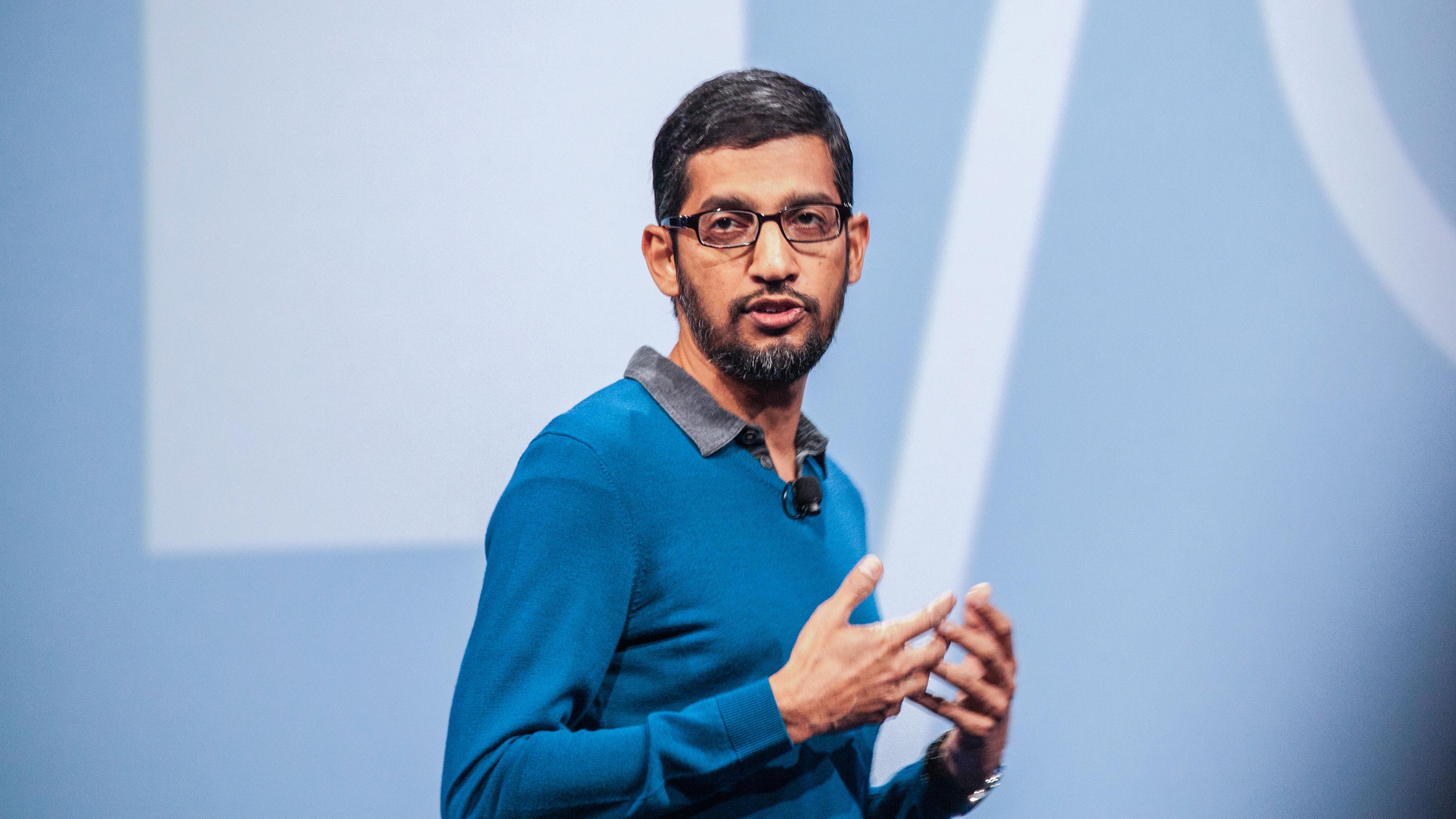 google ceo sundar pichai google i/o conference