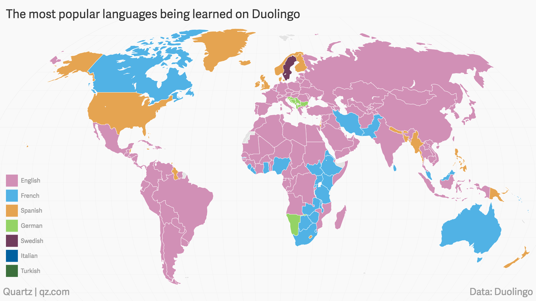 the languages the world is trying to learn according to duolingo quartz