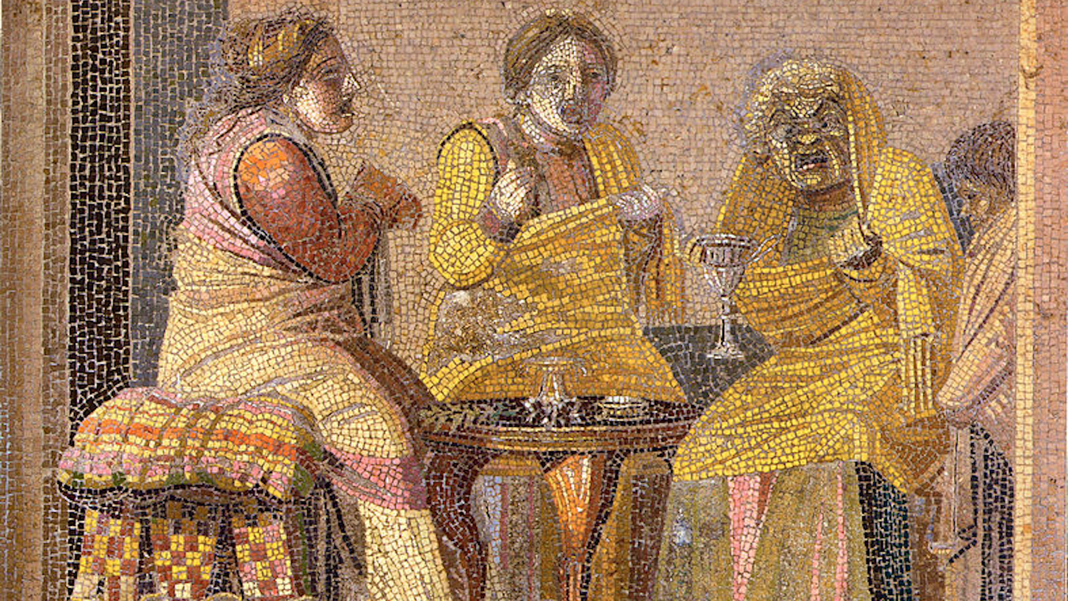 Women in Ancient Rome probably co-ruminating.