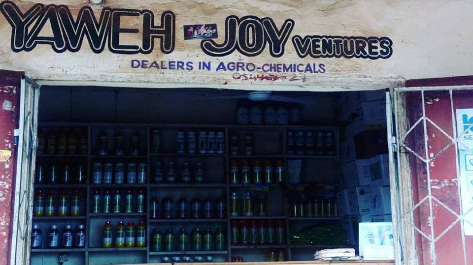 A store in Lower Manya Krobo, Ghana