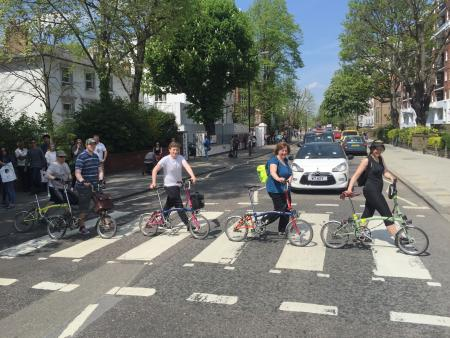 Members of London Brompton Club at Abbey Road.