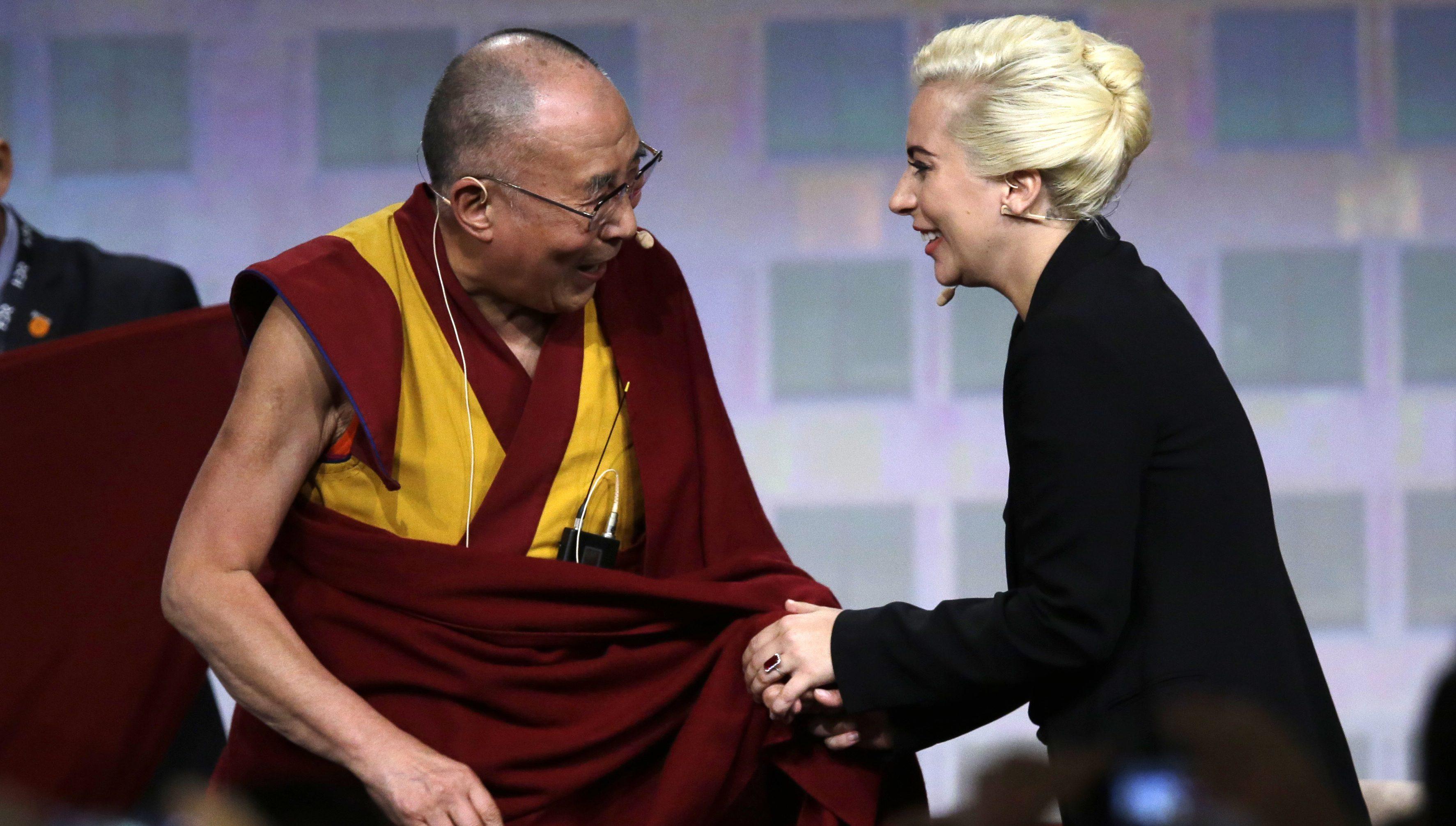 Lady Gaga has hurt Chinese people's feelings. (AP Photo/Michael Conroy)