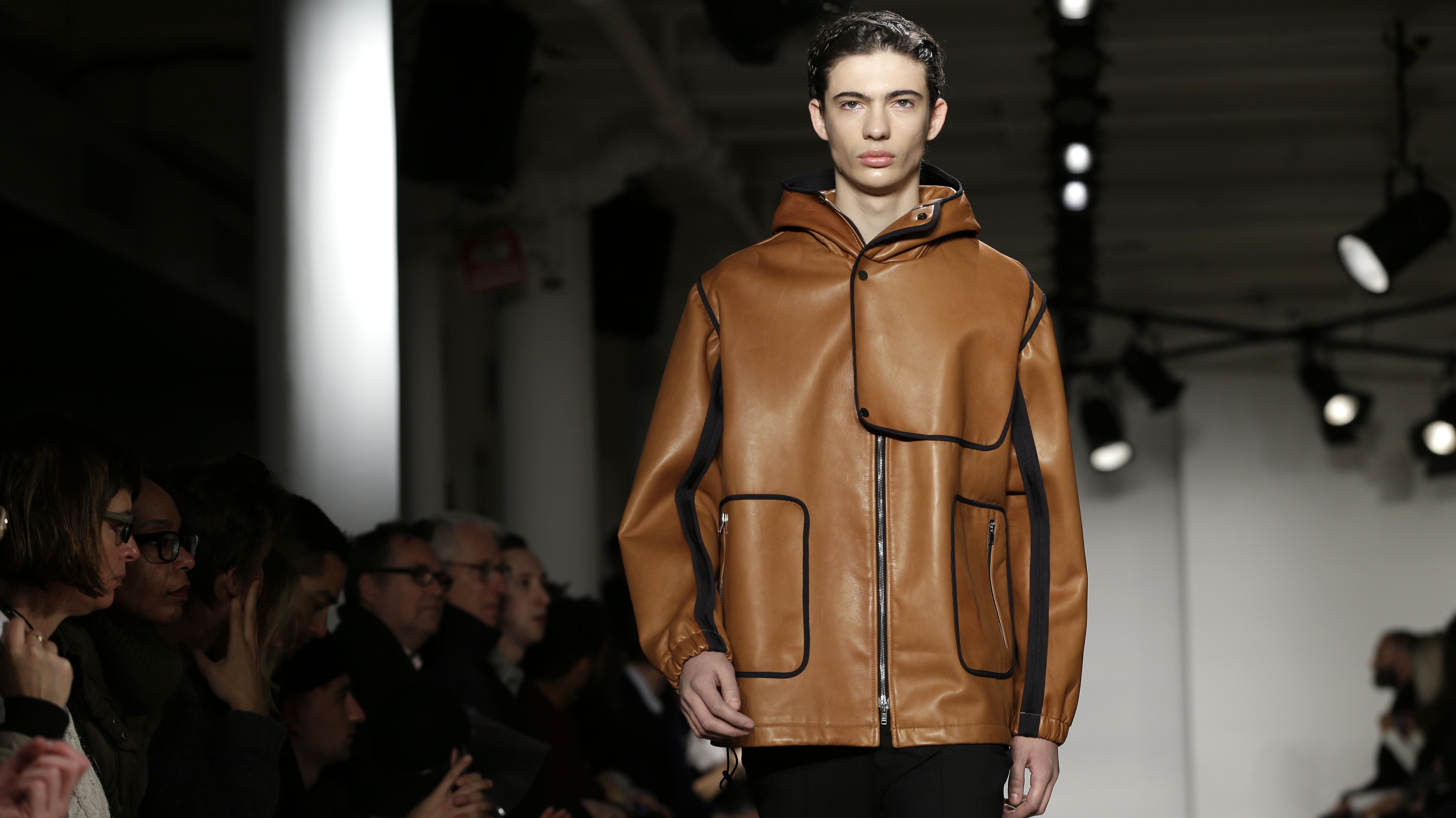 The Tim Coppens Fall 2015 collection is modeled during Fashion Week in New York, Sunday, Feb. 15, 2015. (AP Photo/Seth Wenig)