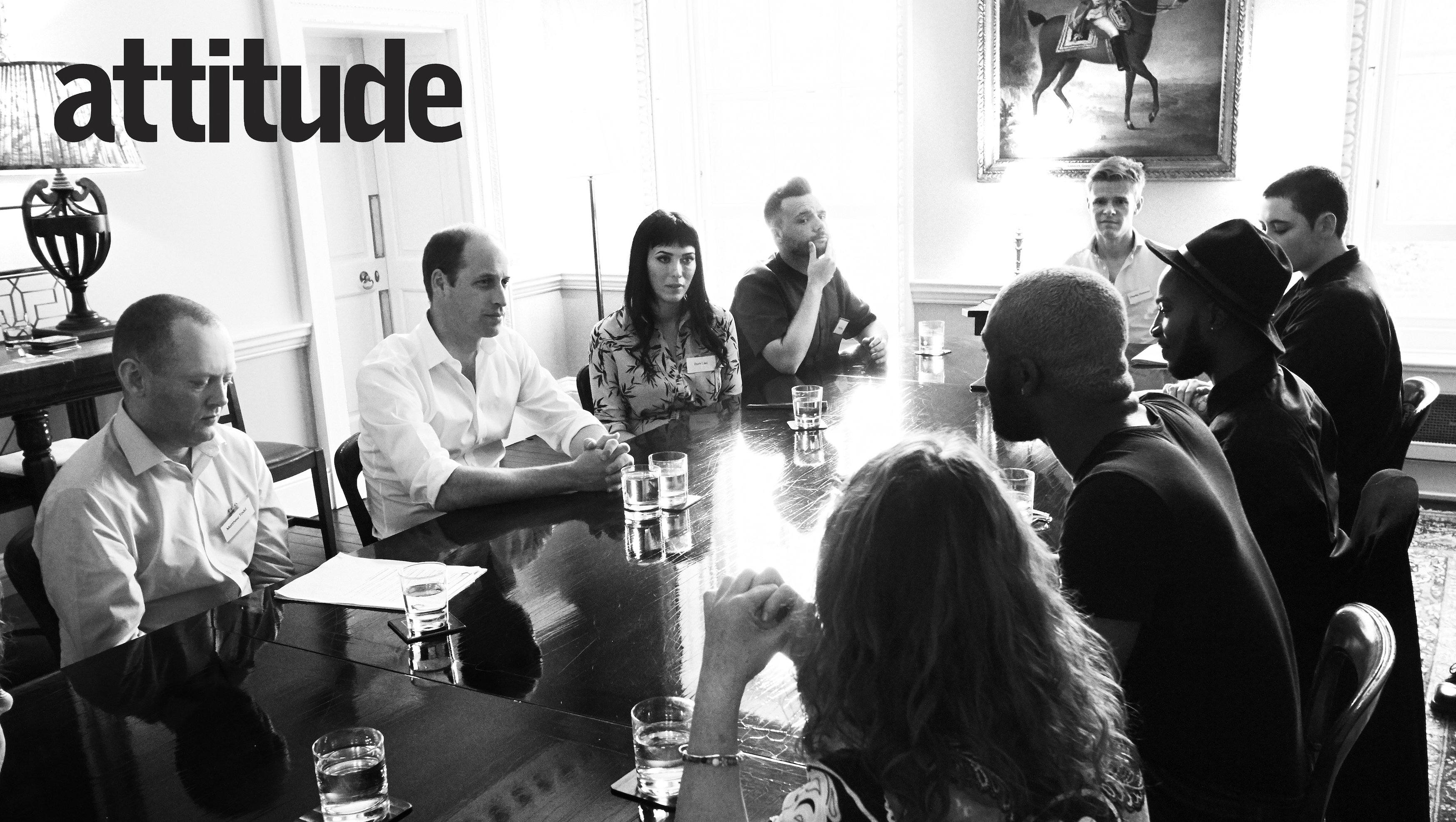 The Prince sat down with representatives of the LGBT community to talk about bulllying.