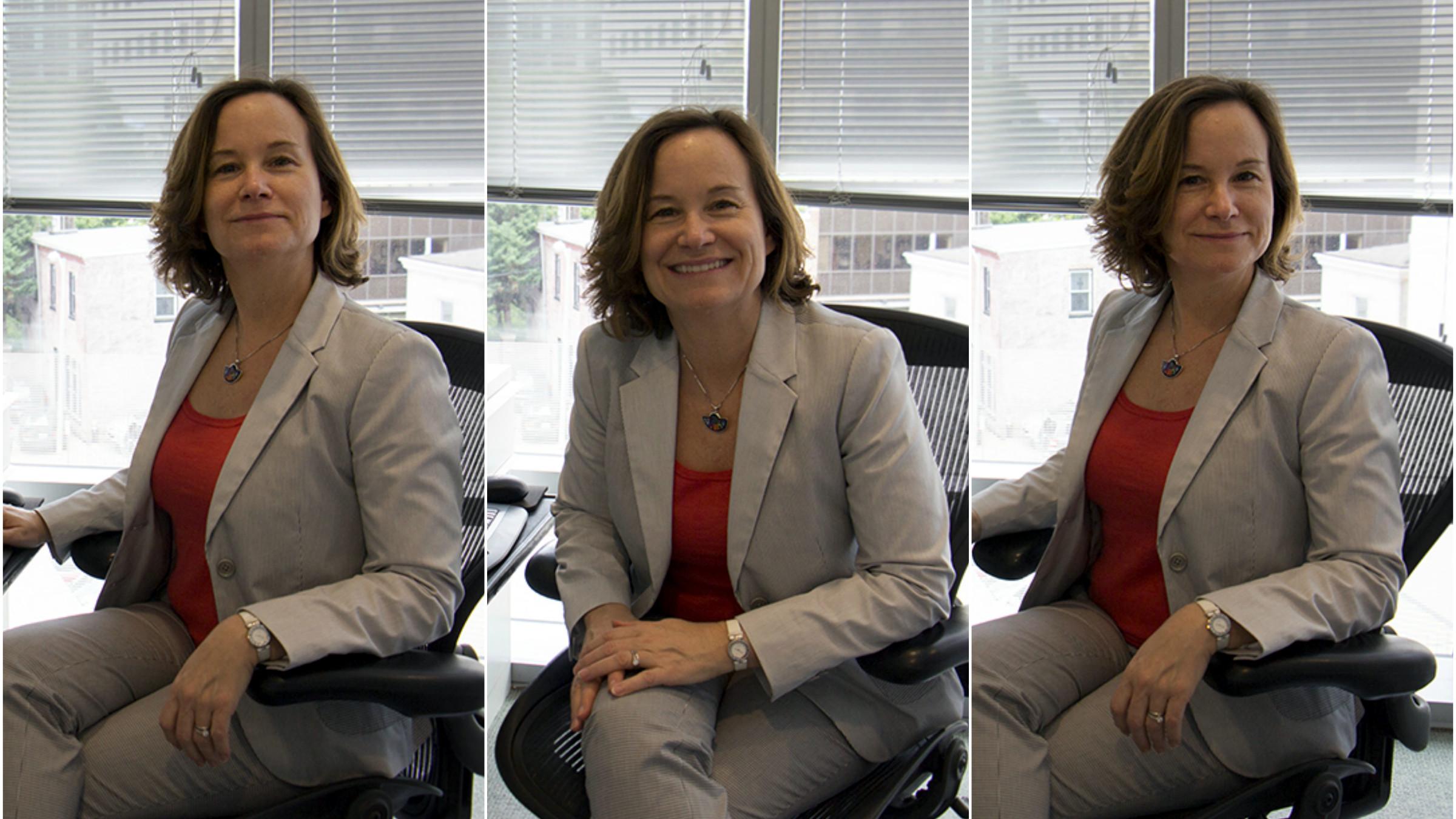 Caroline Freund in her Washington office.