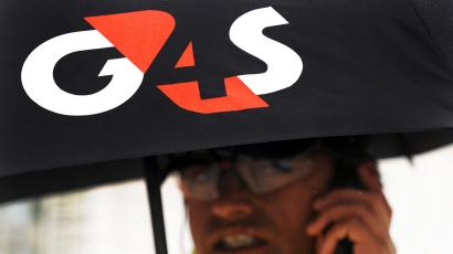 A G4S guard in London.
