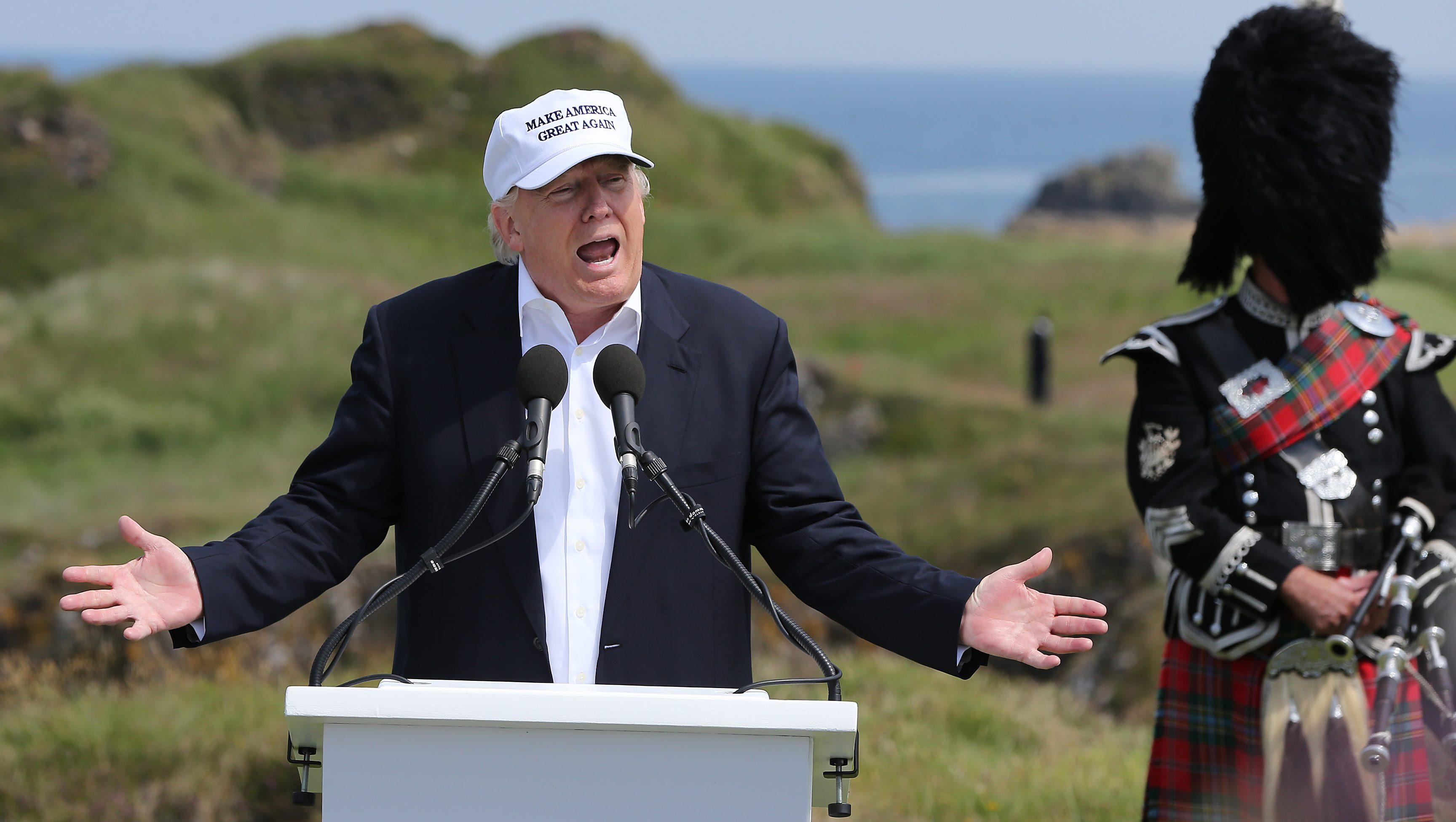04c1288106 Donald Trump's visit to Scotland inspired some very creative British  profanity