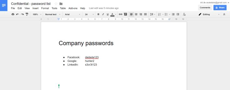 hacked document