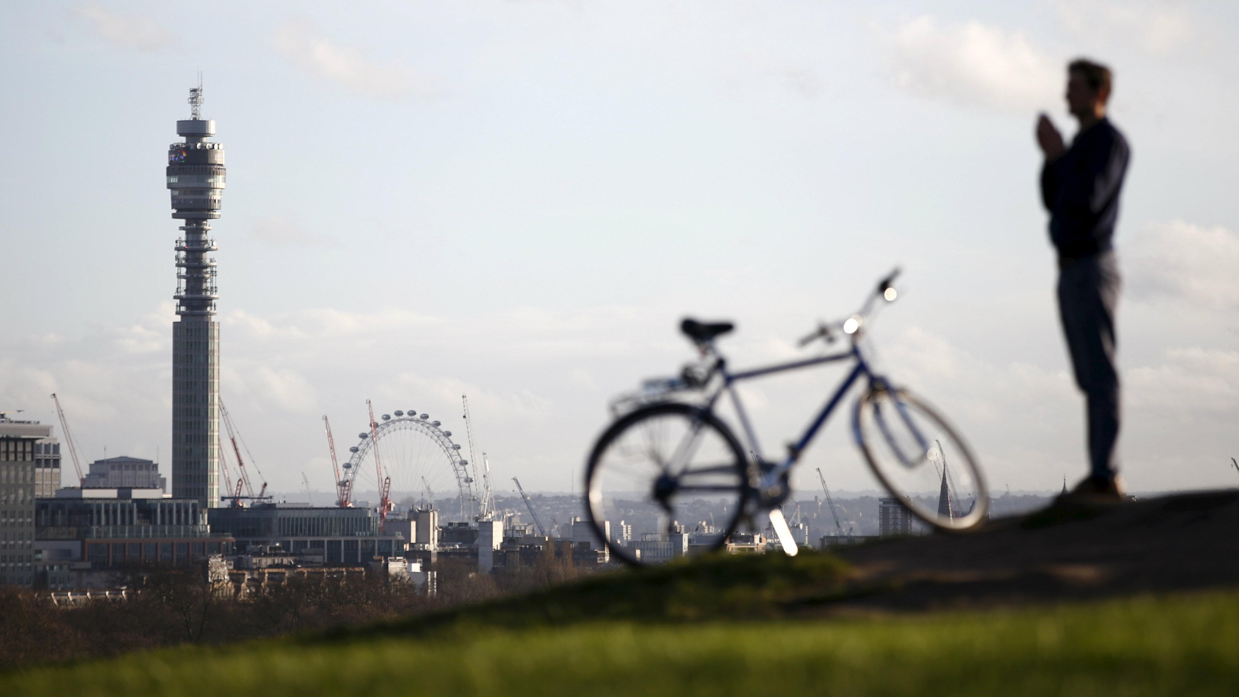 man in park in london