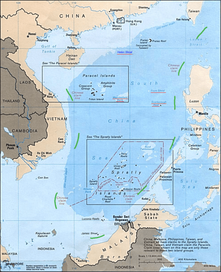 Map Of Asia Seas.South China Sea The Line On A 70 Year Old Map That Threatens To Set