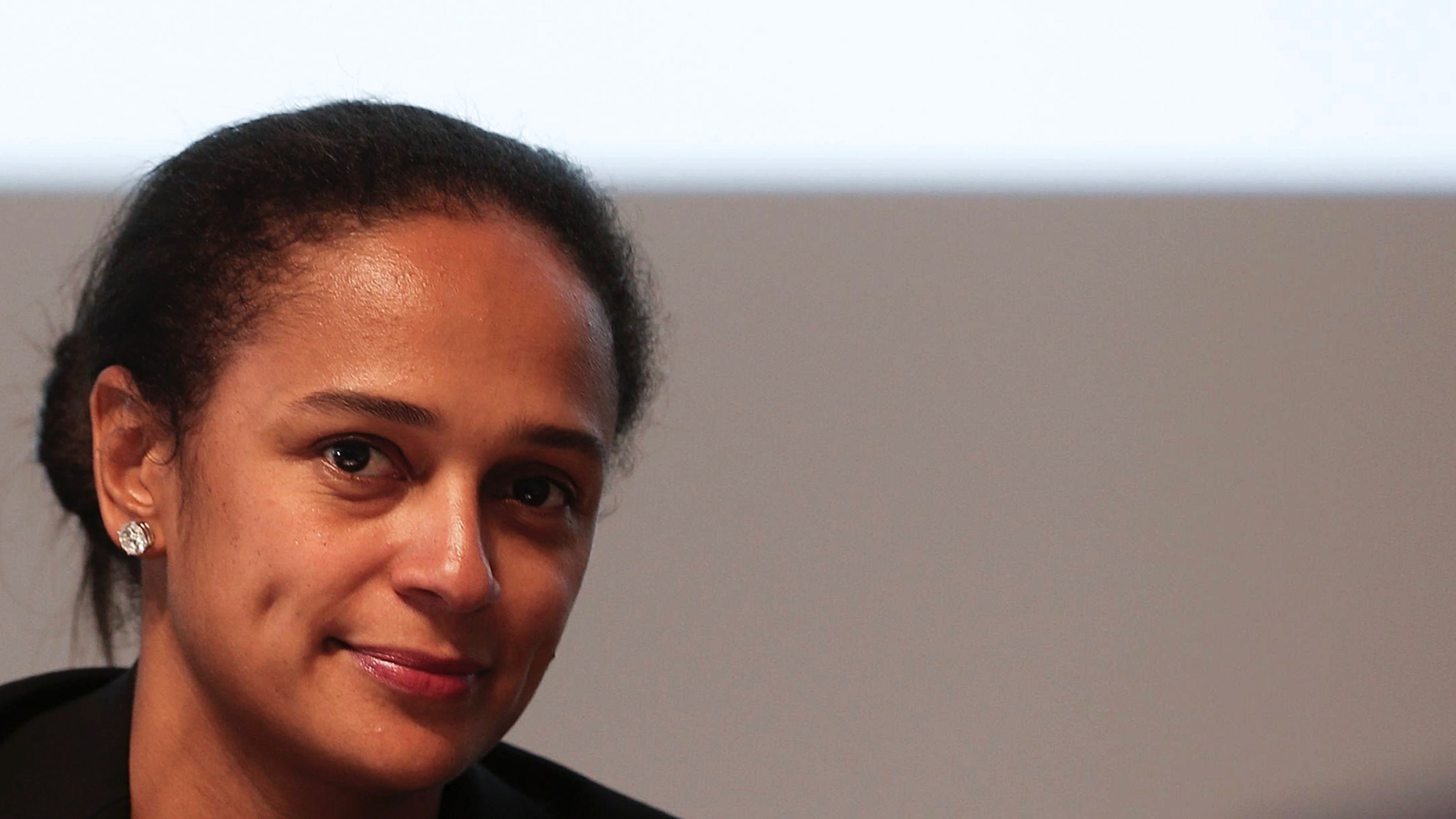 Isabel dos Santos, daughter of Angolam President Jose Eduardo dos Santos and one of the main shareholders of ZON OPTIMUS, during the general assembly of the new telecommunications company held at Champalimaud Foundation, Lisbon, Portugal, 01 October 2013.