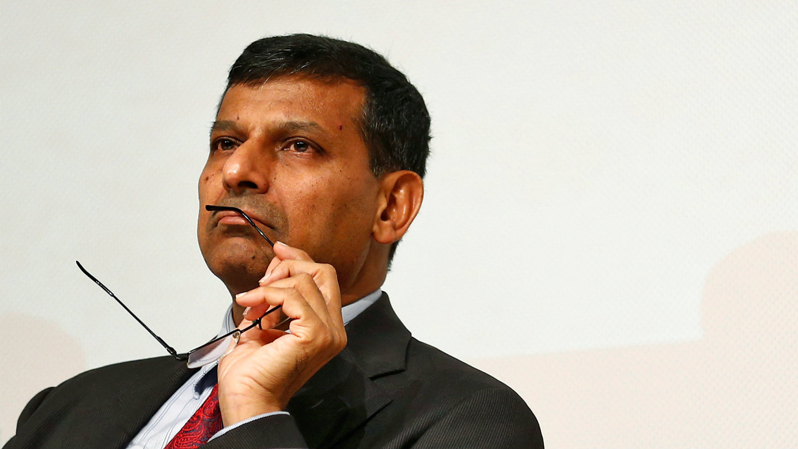 Reserve Bank of India (RBI) Governor Raghuram Rajan looks on before delivering a lecture at Tata Institute of Fundamental Research (TIFR) in Mumbai, India, June 20, 2016.