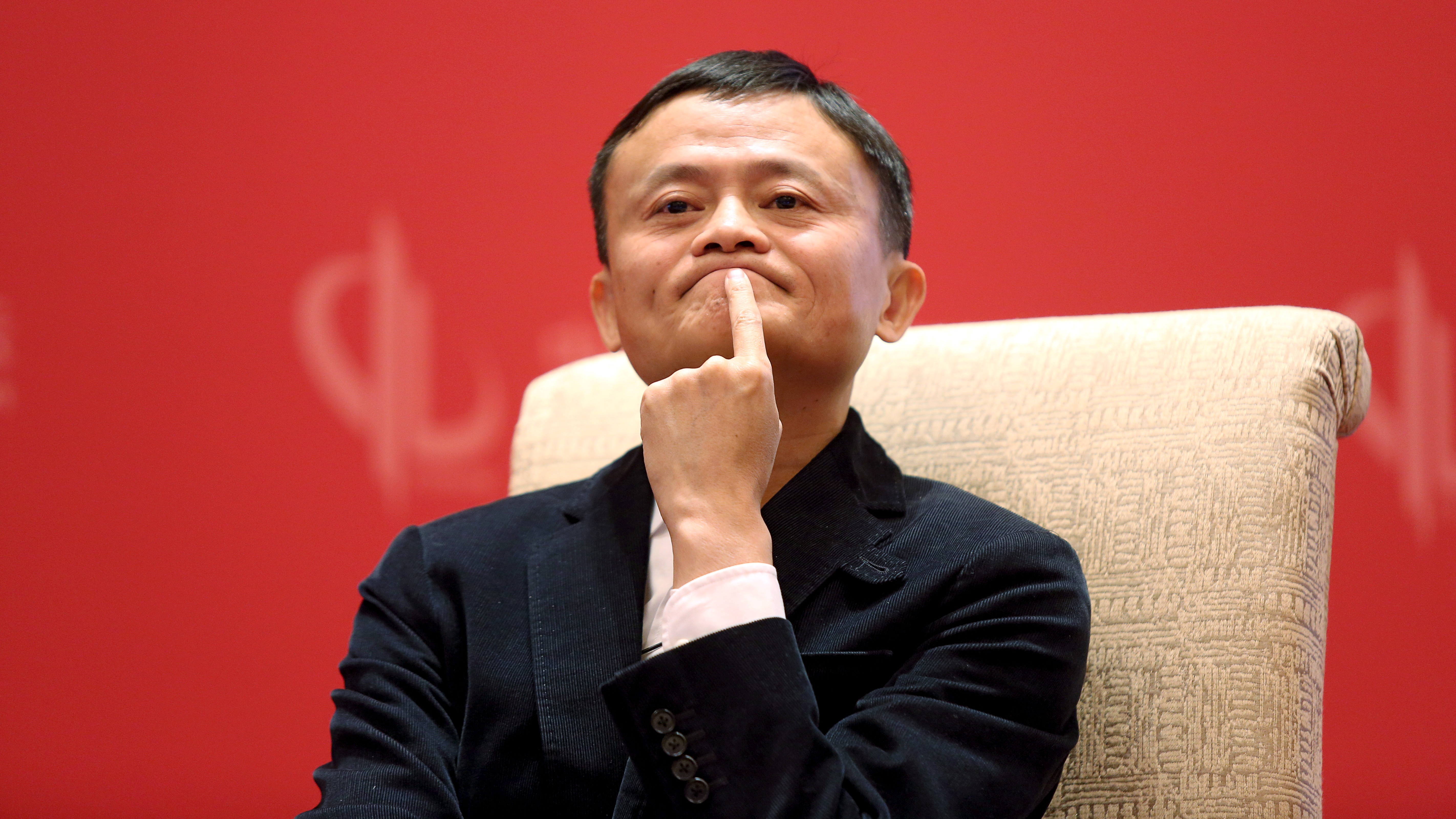 Founder and Executive Chairman of Alibaba Group Jack Ma meets Facebook founder and CEO Mark Zuckerberg (not pictured), at the China Development Forum in Beijing, China, March 19, 2016. REUTERS/Shu Zhang/File Photo
