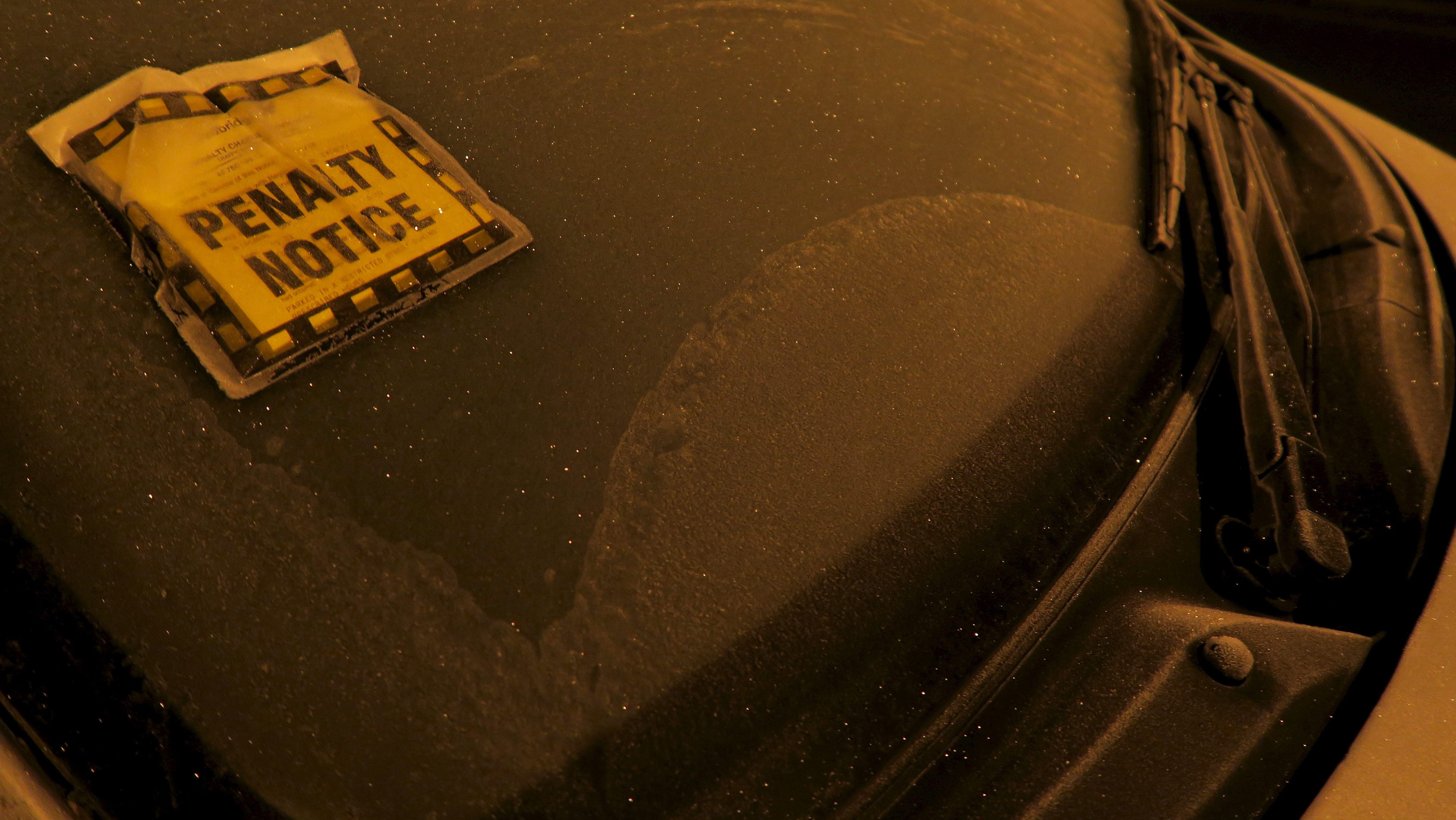 A parking fine ticket