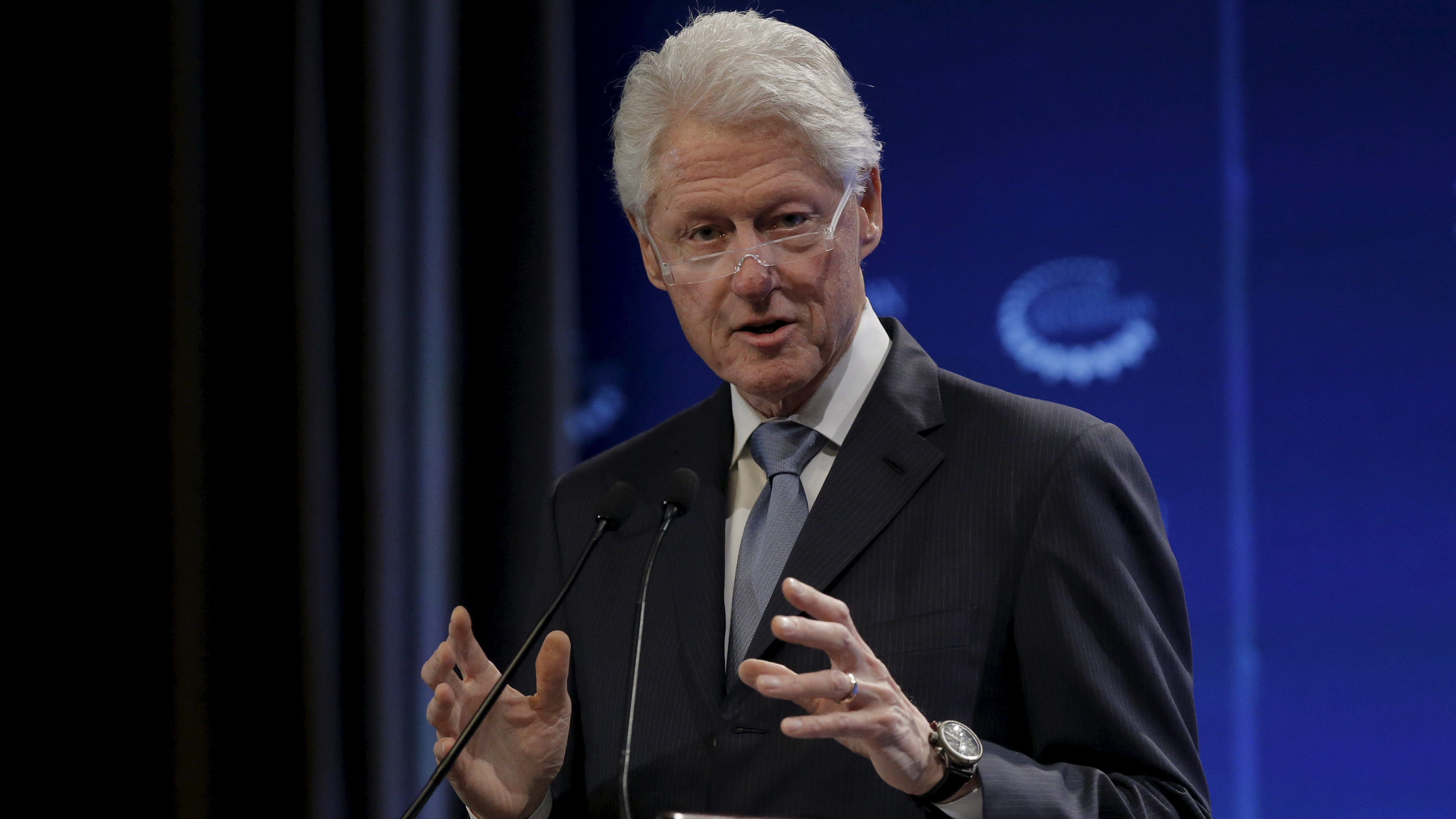Former U.S. President Bill Clinton speaks during the Clinton Global Initiative's winter meeting in New York, February 4, 2016.