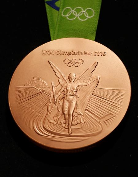 The Rio 2016 Olympic bronze medal (Reuters/Sergio Moraes)