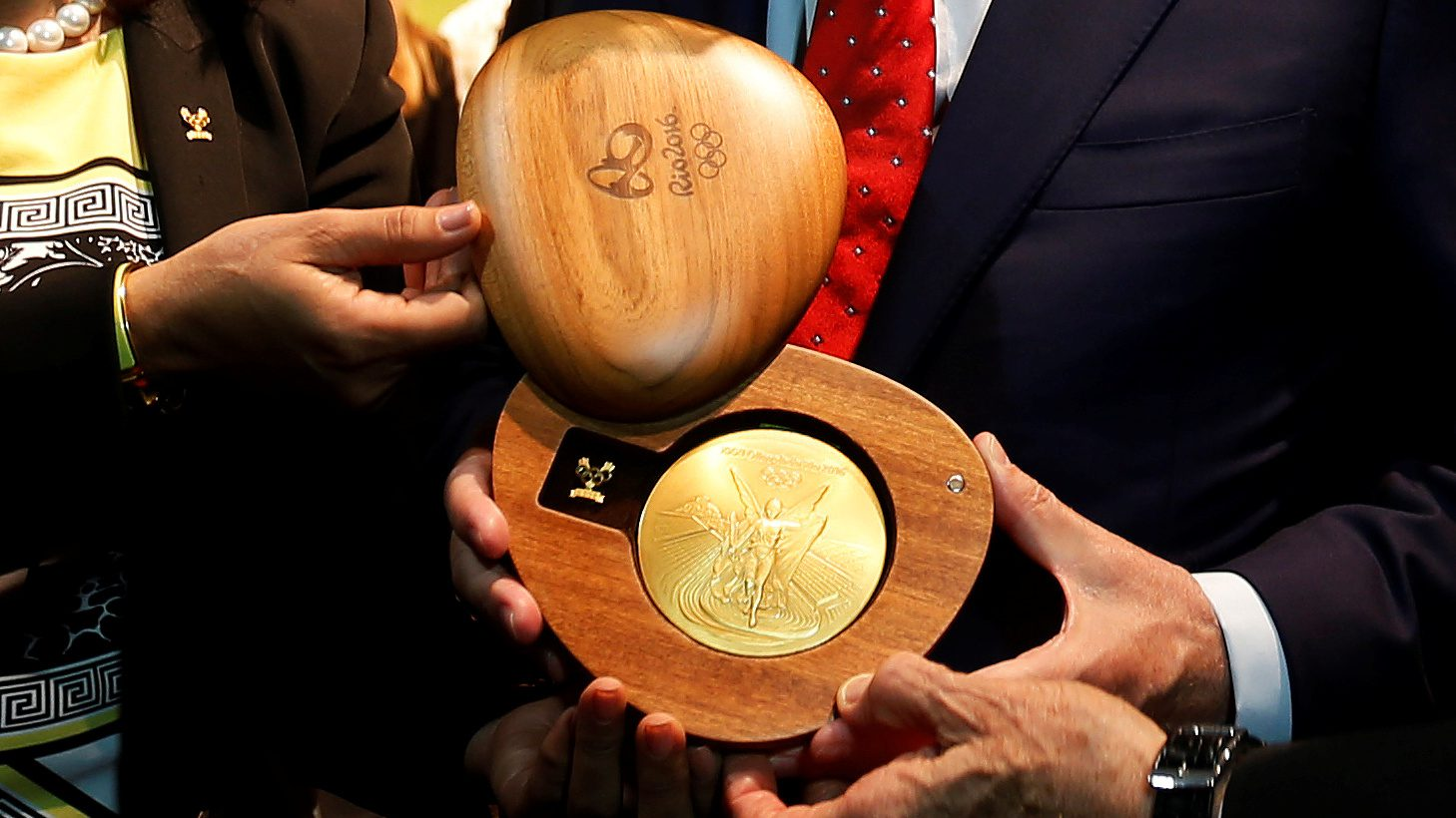 The medals will be presented in a sustainably sourced wooden box. (Reuters/Sergio Moraes)
