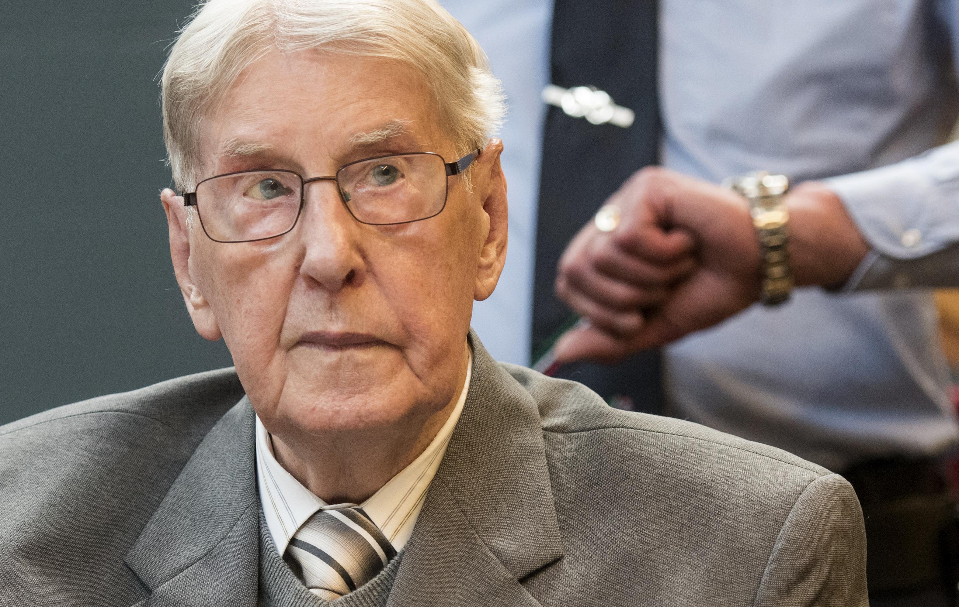 Reinhold Hanning waits for the verdict in Detmold, Germany.