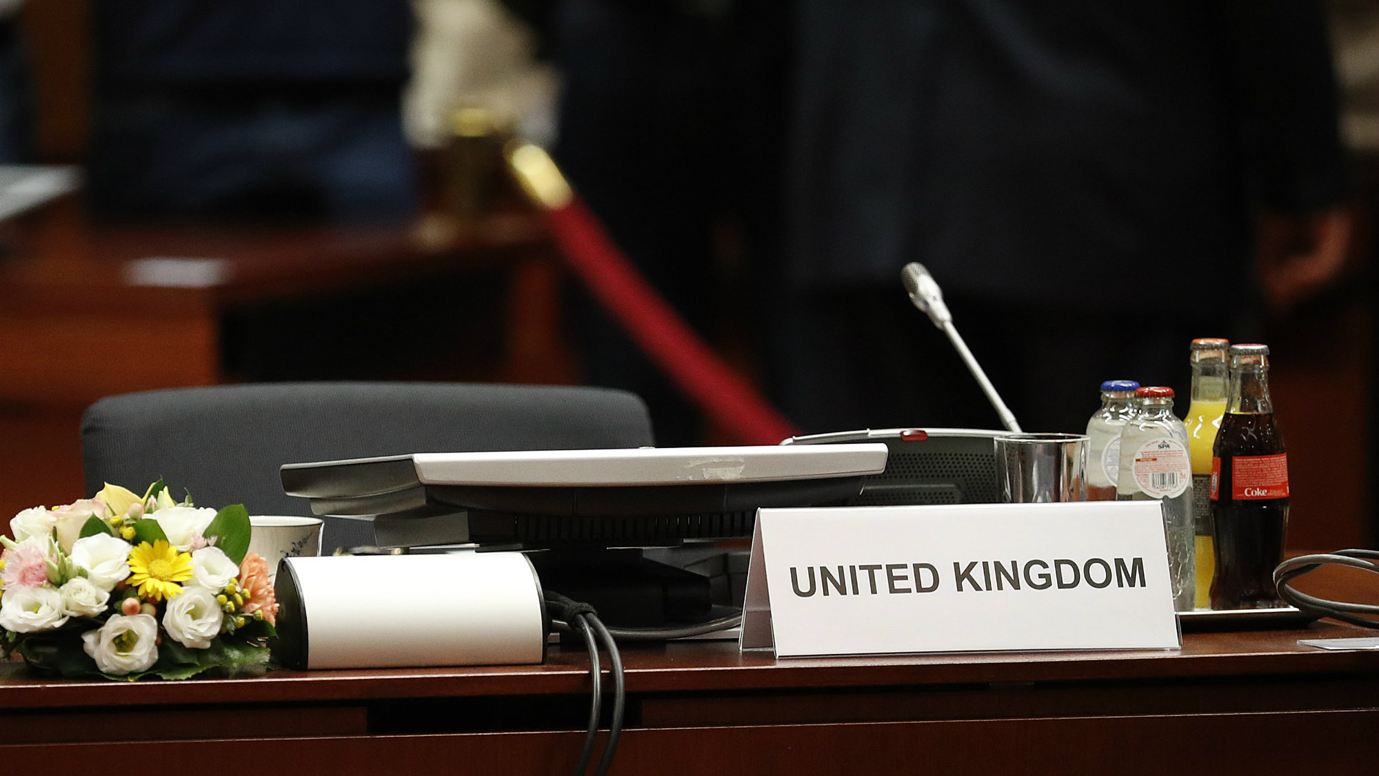 The UK seat at the conference table the EU Summit in Brussels, Belgium, June 28, 2016.