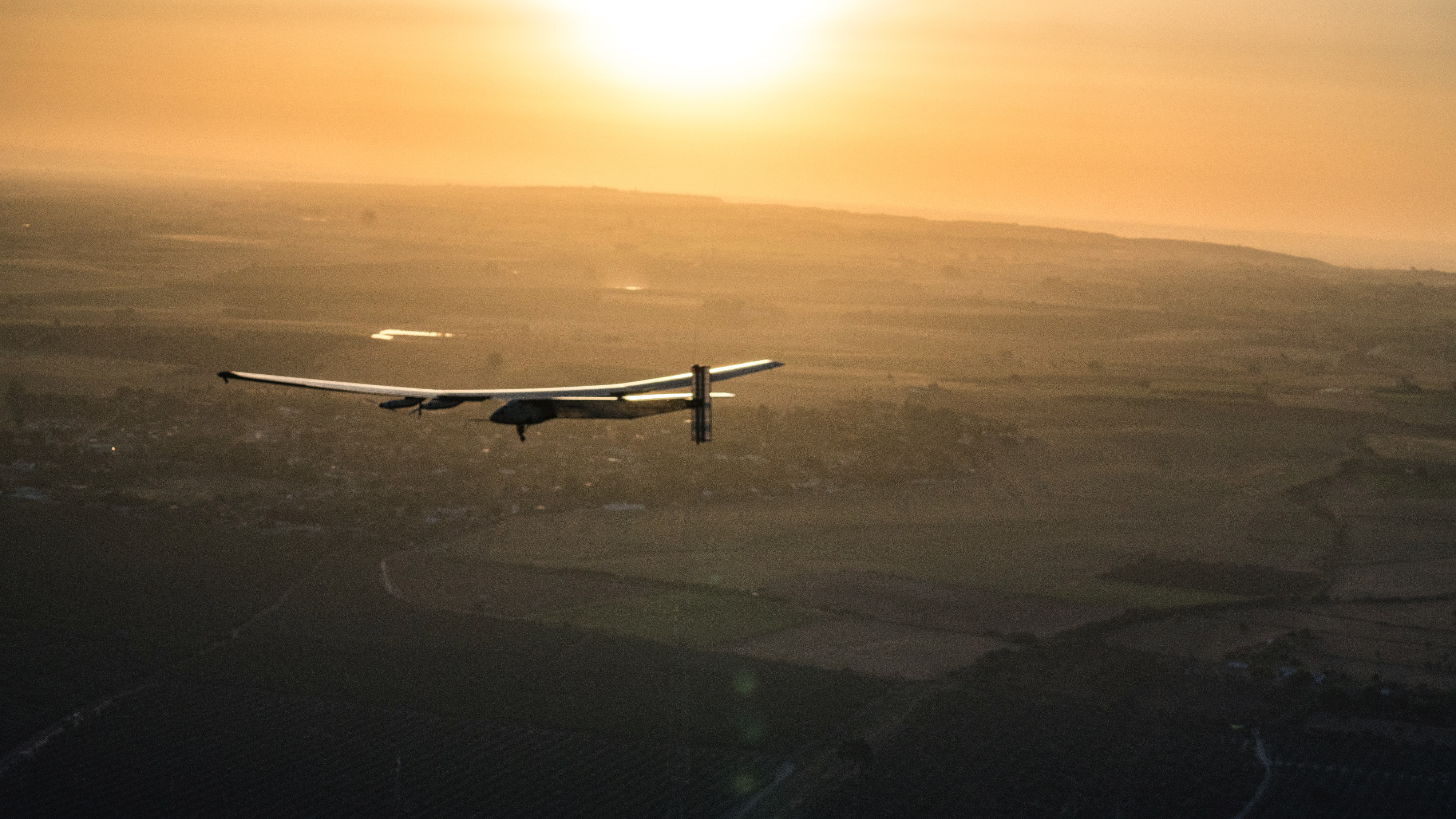 Seville, Spain, June 23th 2016: Solar Impulse successfully landed in Seville after 3 days over the Atlantic with Bertrand Piccard at the controls. Departed from Abu Dhabi on march 9th 2015, the Round-the-World Solar Flight will take 500 flight hours and cover 35í000 km. Swiss founders and pilots, Bertrand Piccard and AndrÈ Borschberg hope to demonstrate how pioneering spirit, innovation and clean technologies can change the world. The duo will take turns flying Solar Impulse 2, changing at each stop and will fly over the Arabian Sea, to India, to Myanmar, to China, across the Pacific Ocean, to the United States, over the Atlantic Ocean to Southern Europe or Northern Africa before finishing the journey by returning to the initial departure point. Landings will be made every few days to switch pilots and organize public events for governments, schools and universities.