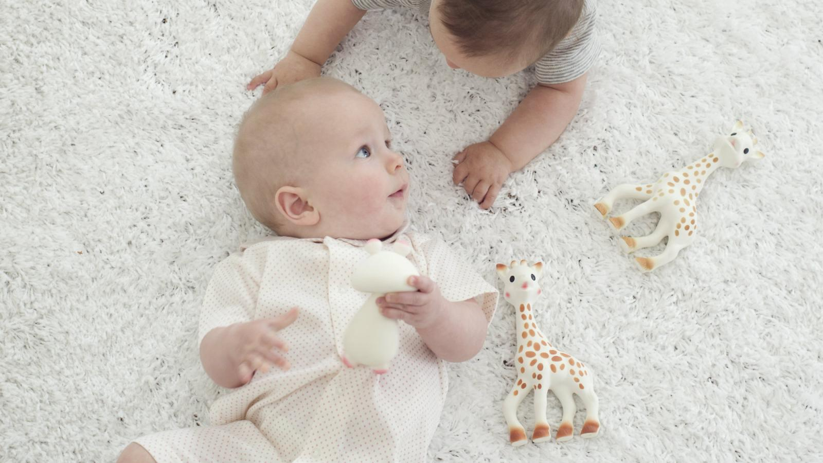 Image result for sophie la giraffe and baby chewing