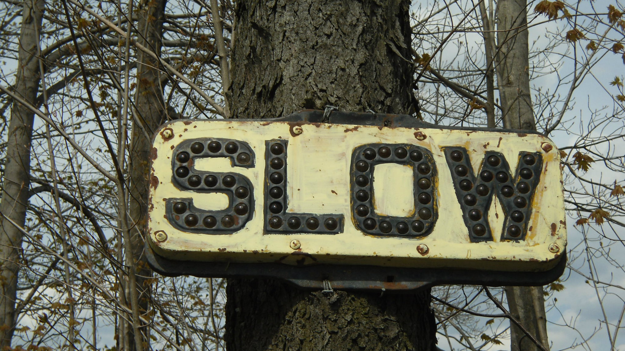 A road sign in upstate East Worcester, New York.
