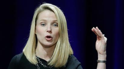FILE - In this Feb. 19, 2015, file photo, Yahoo President and CEO Marissa Mayer delivers the keynote address at the first-ever Yahoo Mobile Developer's Conference, in San Francisco. In a decision announced Thursday, March 10, 2016, Yahoo set up a battle for control of its board by appointing two directors likely to further agitate an activist shareholder threatening to lead an investor mutiny aimed at ousting Mayer unless she bows to demands to sell the company's Internet operations. (AP Photo/Eric Risberg, File)