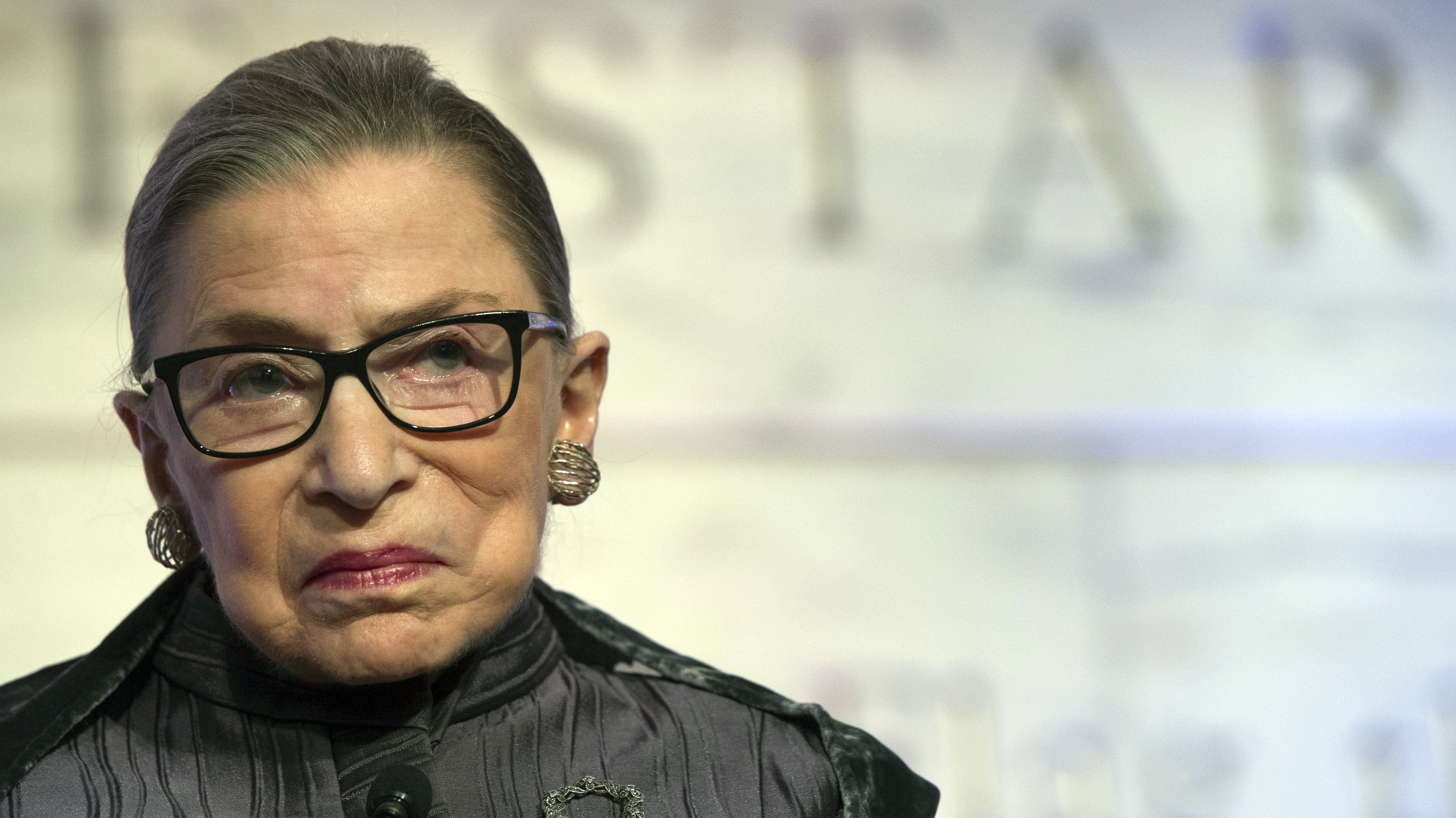 Supreme Court Justices Ruth Bader Ginsburg discusses the food traditions of the Supreme Court at the Smithsonian Museum of American History in Washington, Wednesday, June 1, 2016.