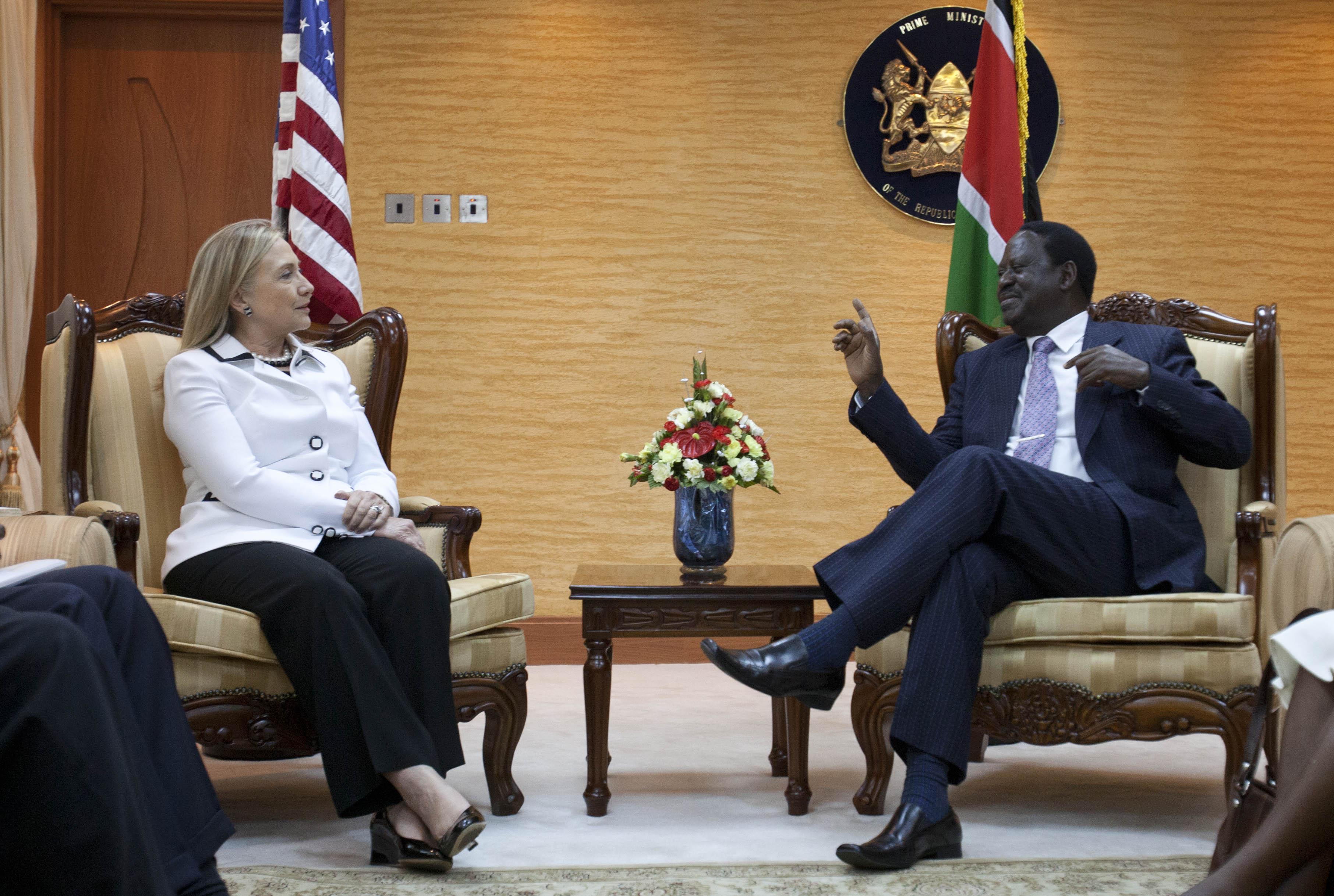 Hillary Rodham Clinton, Raila Odinga