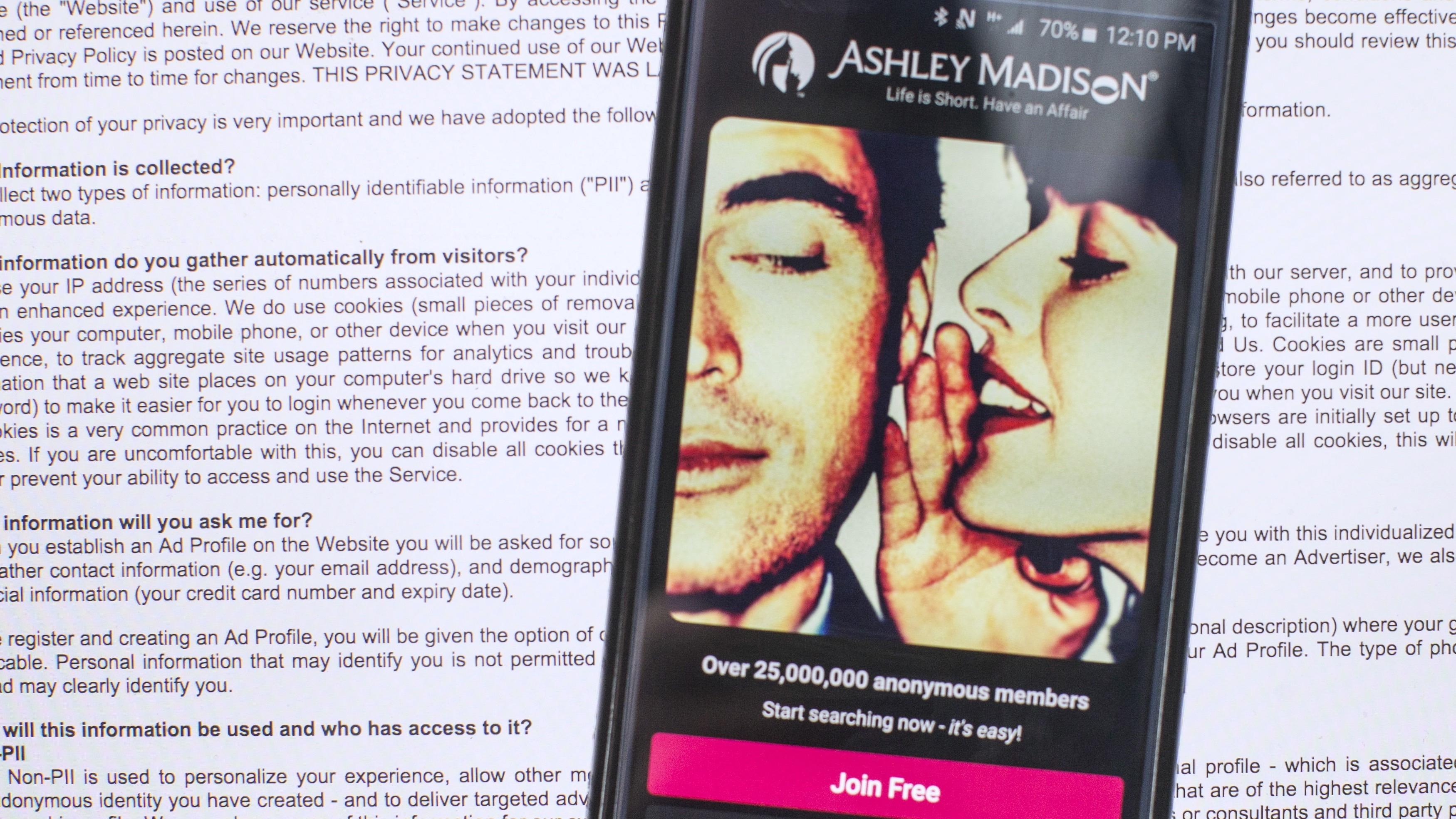 Ashley madison online dating