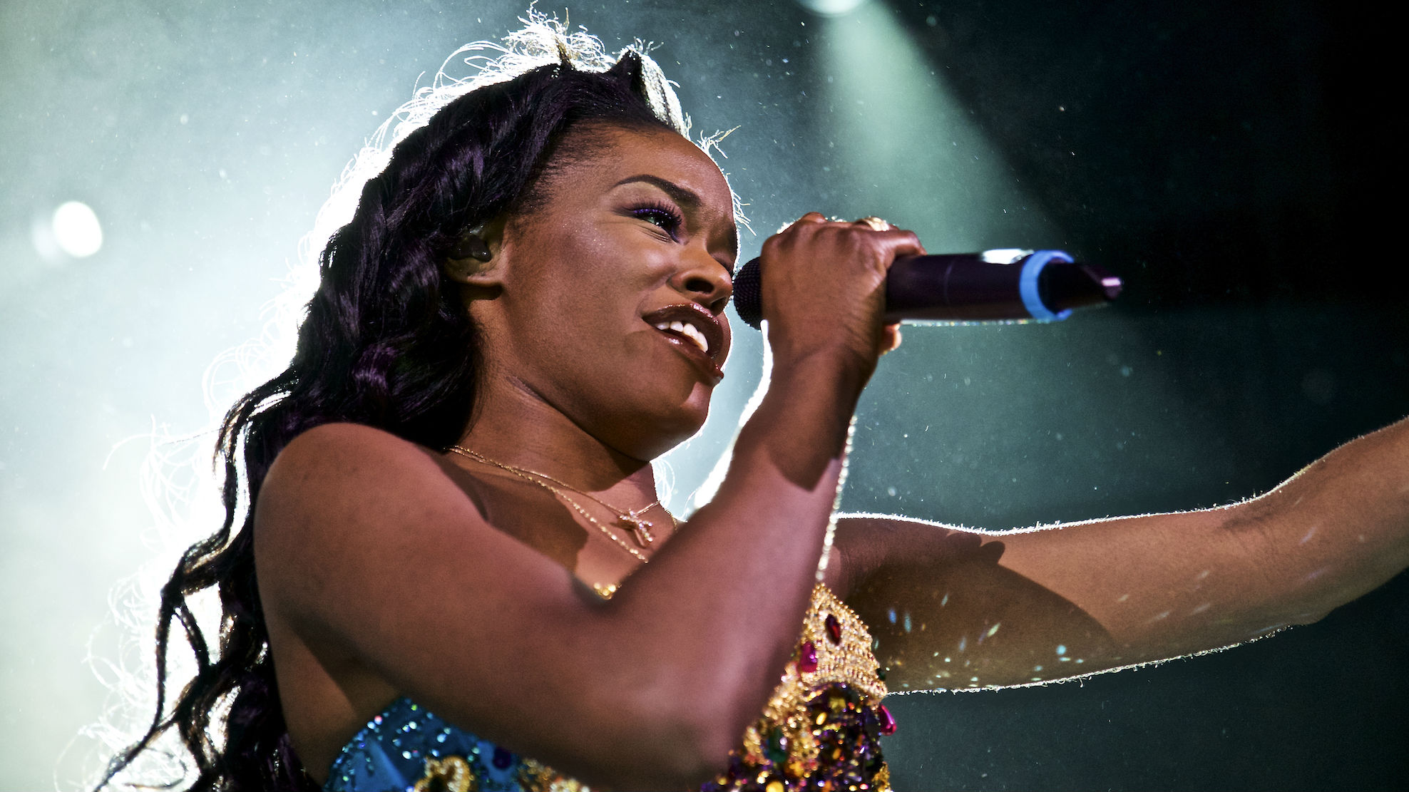 FILE - In this May 11, 2015 file photo, Azealia Banks performs in concert at Irving Plaza in New York. Banks, like Donald Trump, is outspoken and often criticized for her opinions. That makes the rapper the perfect person to perform at a Trump concert.