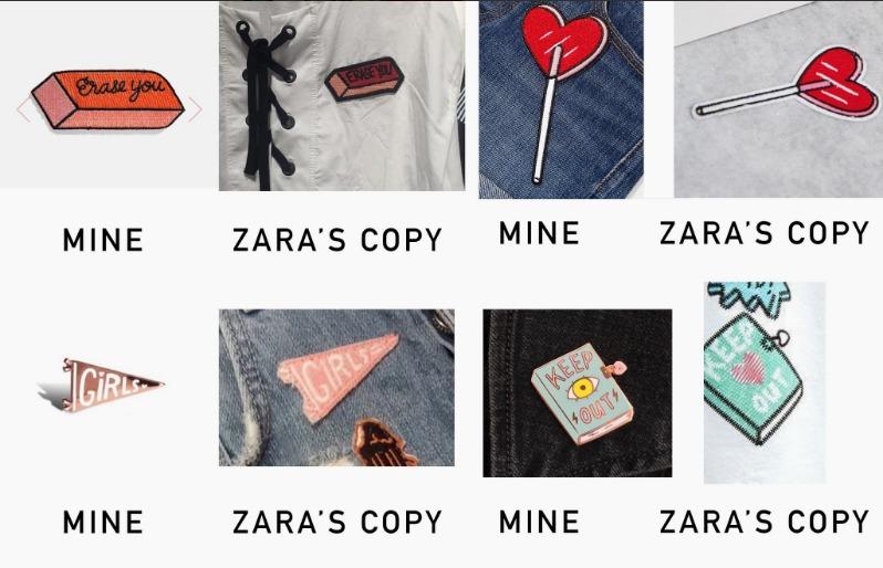 The designs Bassen claims Zara copied