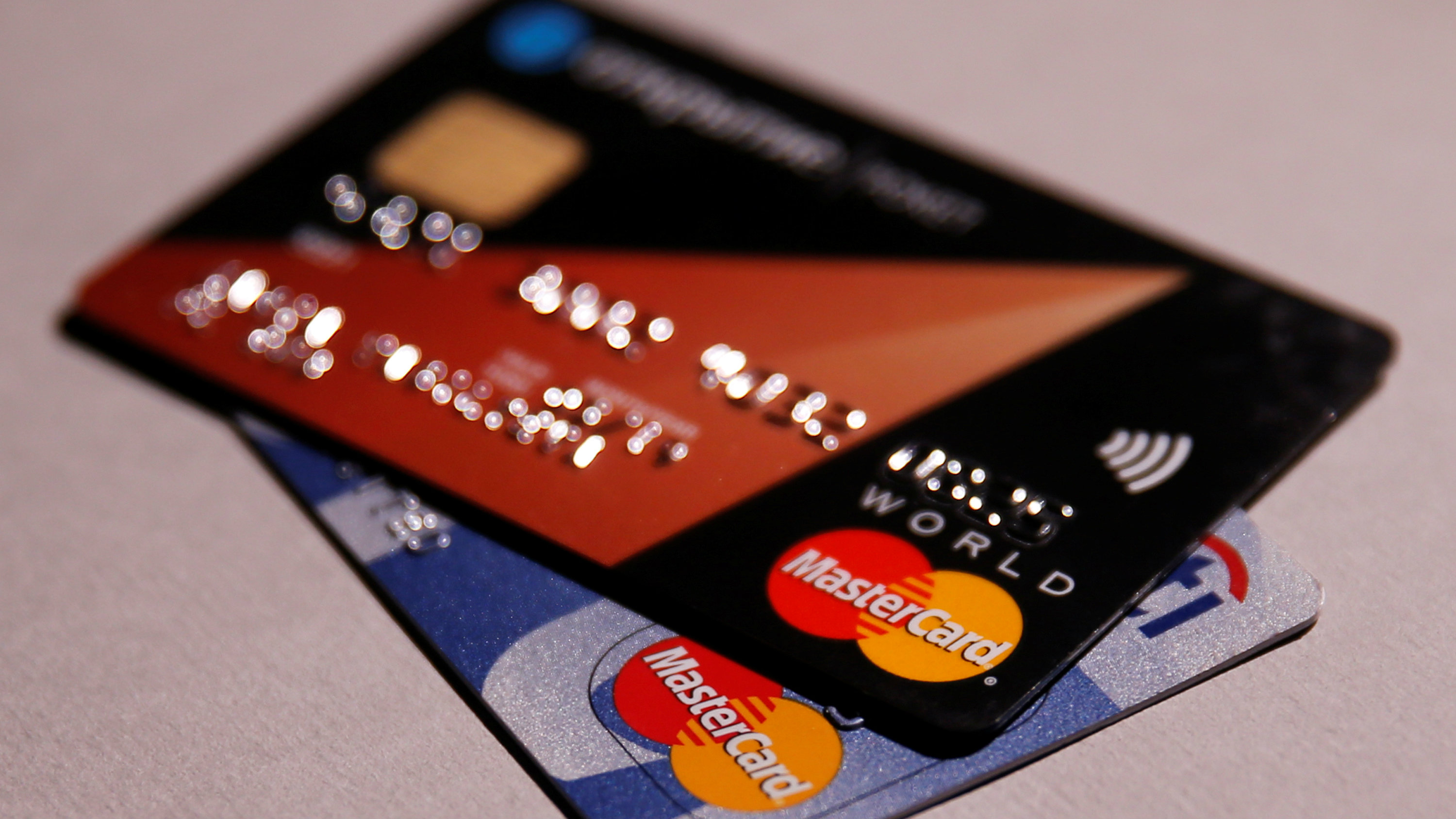 MasterCard credit cards are seen in this picture illustration taken June 9, 2016.