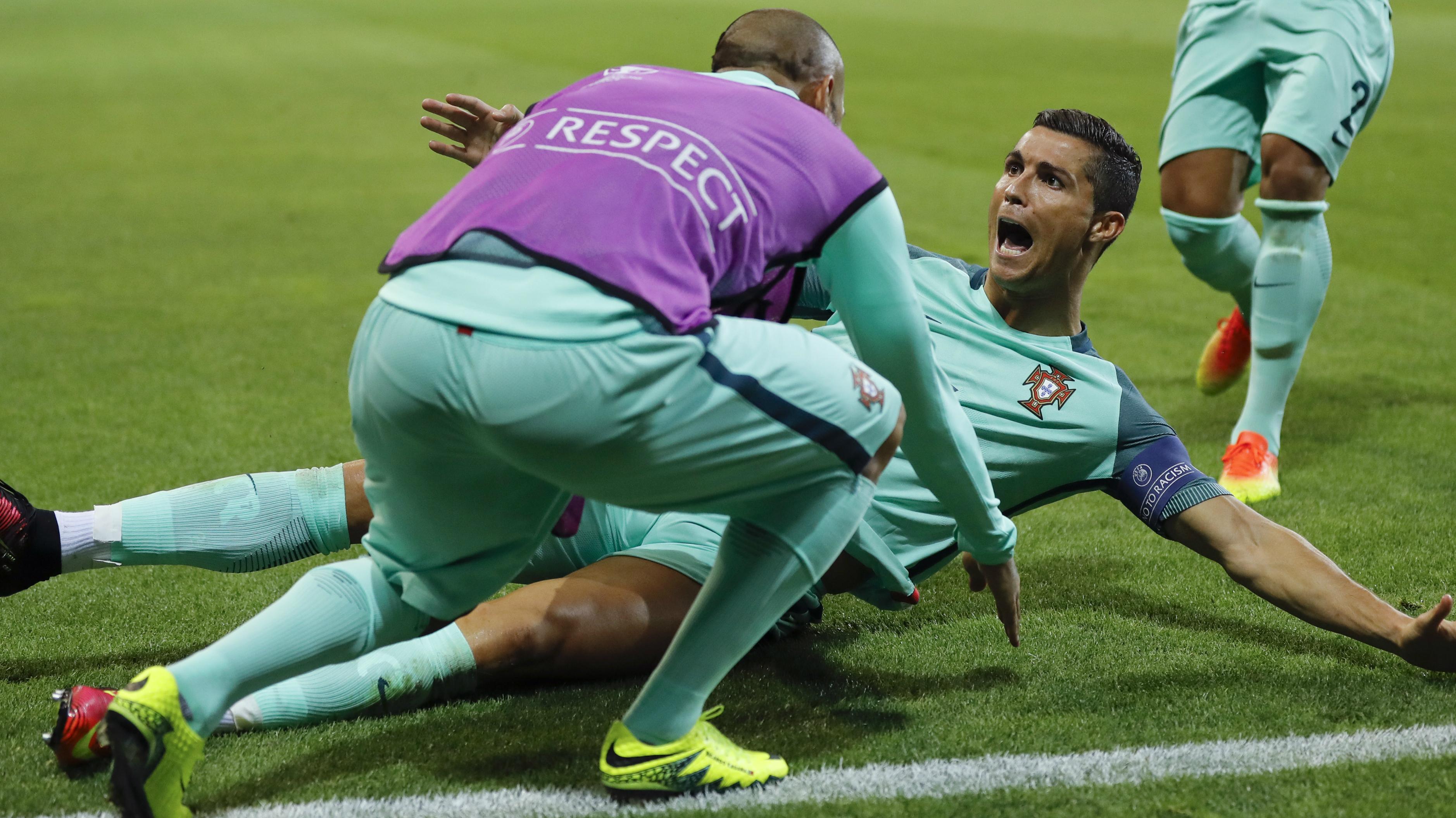 cristiano ronaldo portugal vs. france Euro cup