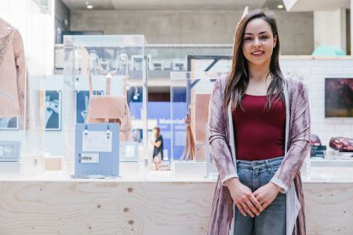 Tina Gorjanc at her exhibition