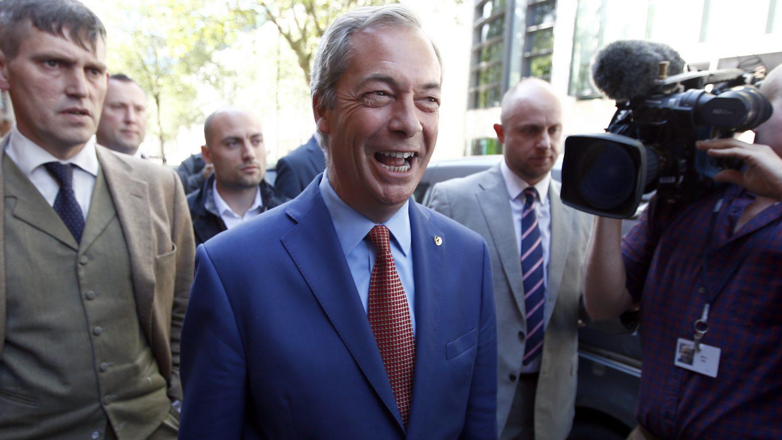 Nigel Farage resigns.