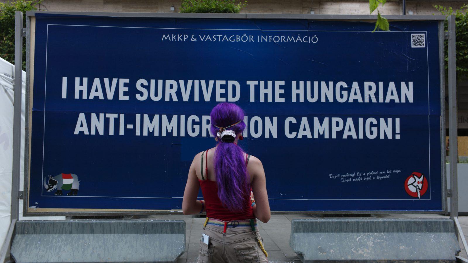 Billboard in Hungary.