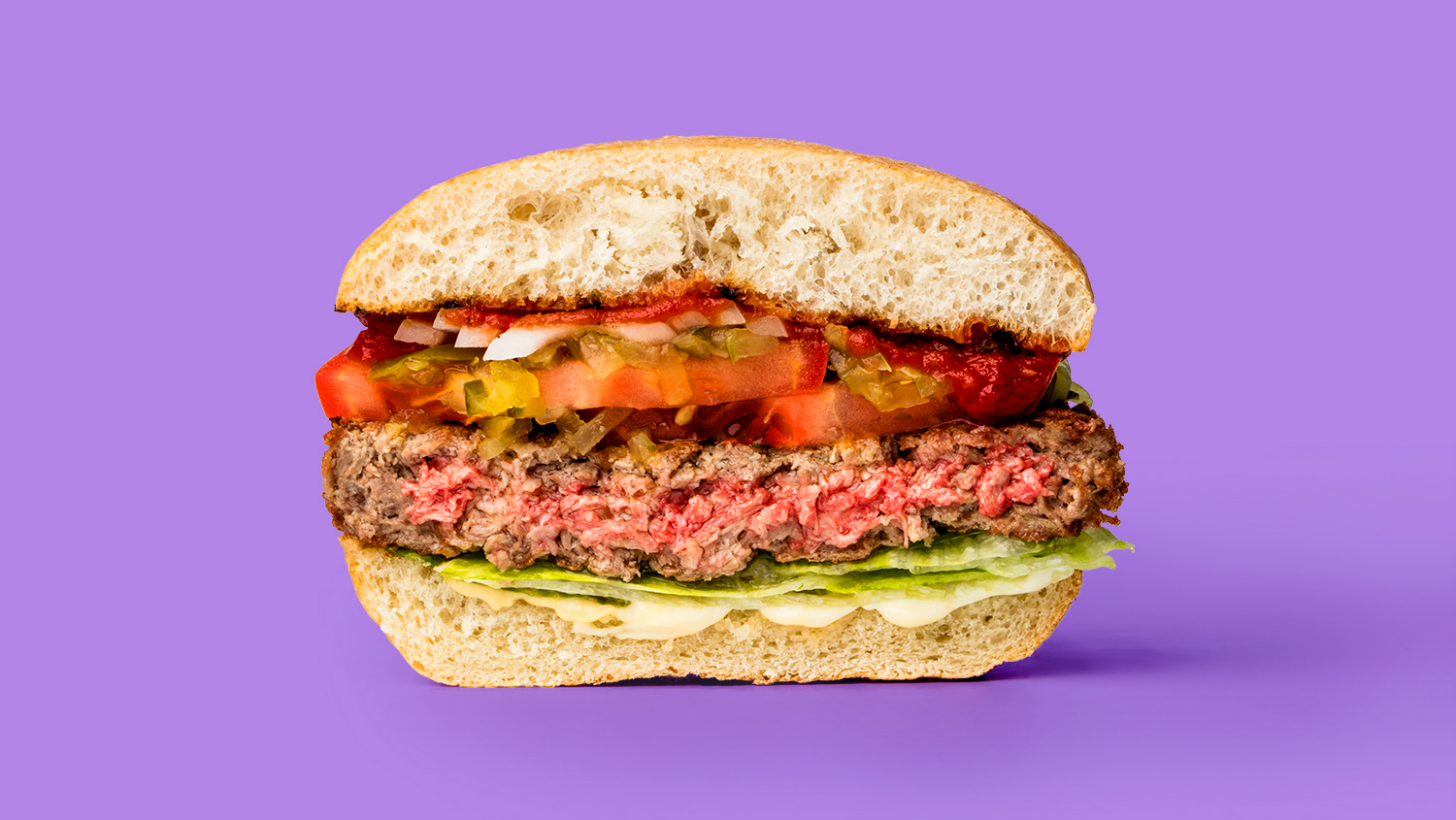Plant-based burgers that bleed.
