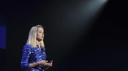 Yahoo CEO Marissa Mayer delivers her keynote address at the annual Consumer Electronics Show (CES) in Las Vegas