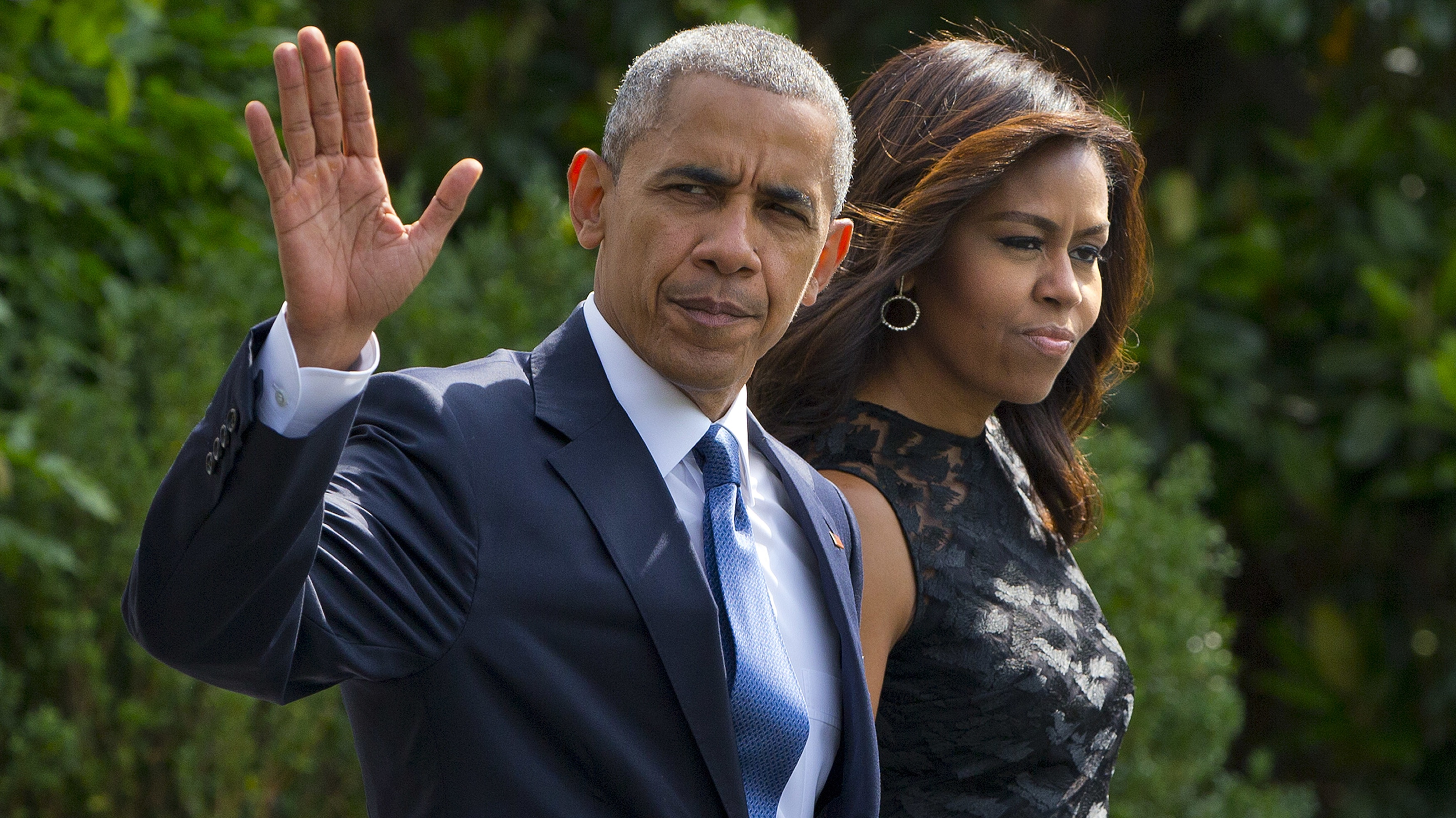 US president Barack Obama and first lady Michelle depart for Dallas, Texas.