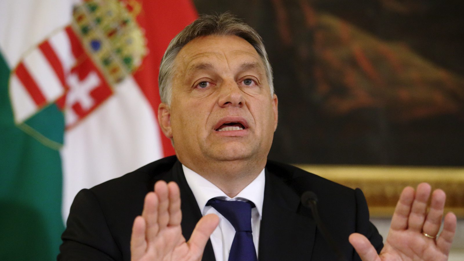 Hungary's Prime Minister Viktor Orban addresses a news conference in Vienna, Austria, September 25, 2015. Hungary will seek support for its efforts to try to block the flood of migrants on its southern border with Croatia, similar to the measures implemented on its border with Serbia, Prime Minister Viktor Orban said in Vienna on Friday.
