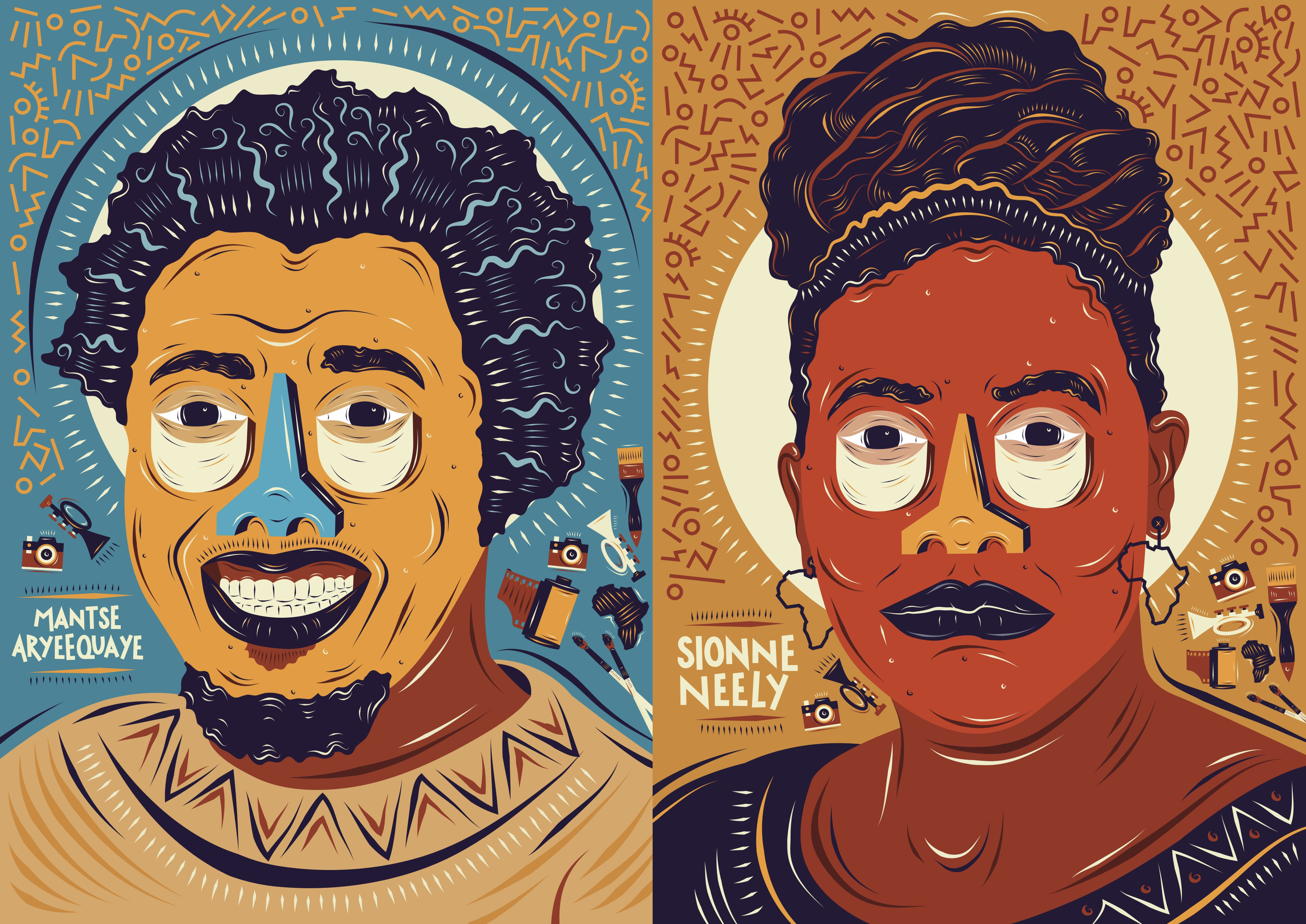 Mantse Aryeequaye and Sionne Neely (Karabo Moletsane for Quartz)