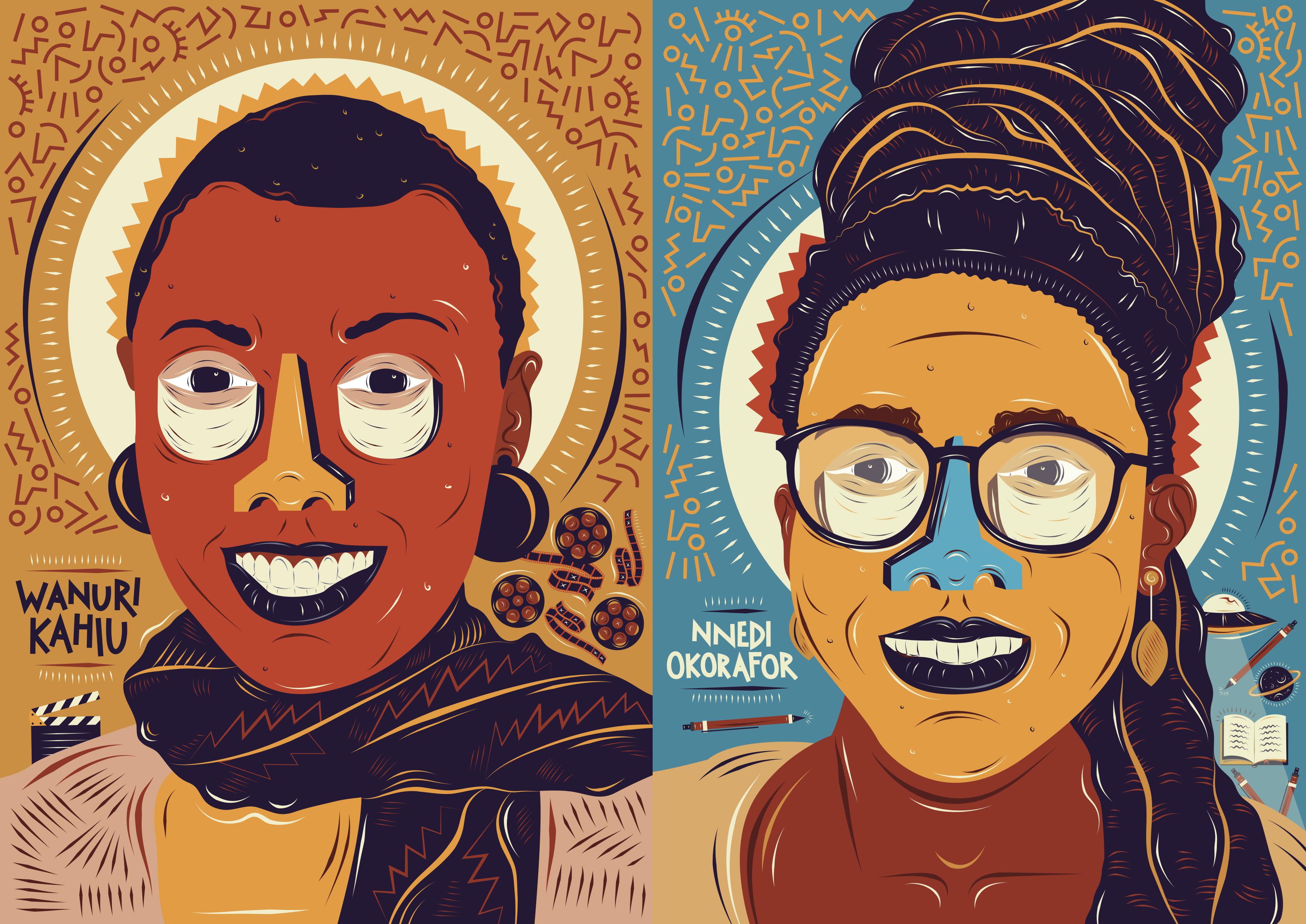 Wanuri Kahiu and Nnedi Okoroafor (Karabo Moletsane for Quartz)