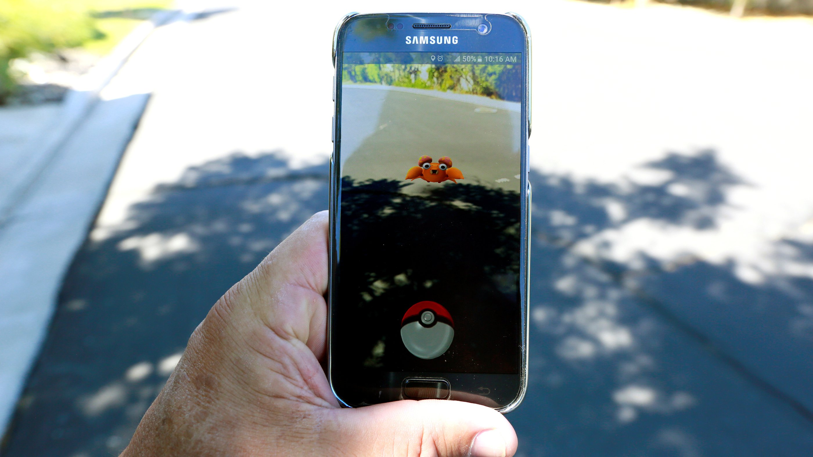 "he augmented reality mobile game ""Pokemon Go"" by Nintendo is shown on a smartphone screen in this photo illustration taken in Palm Springs, California U.S. July 11, 2016."