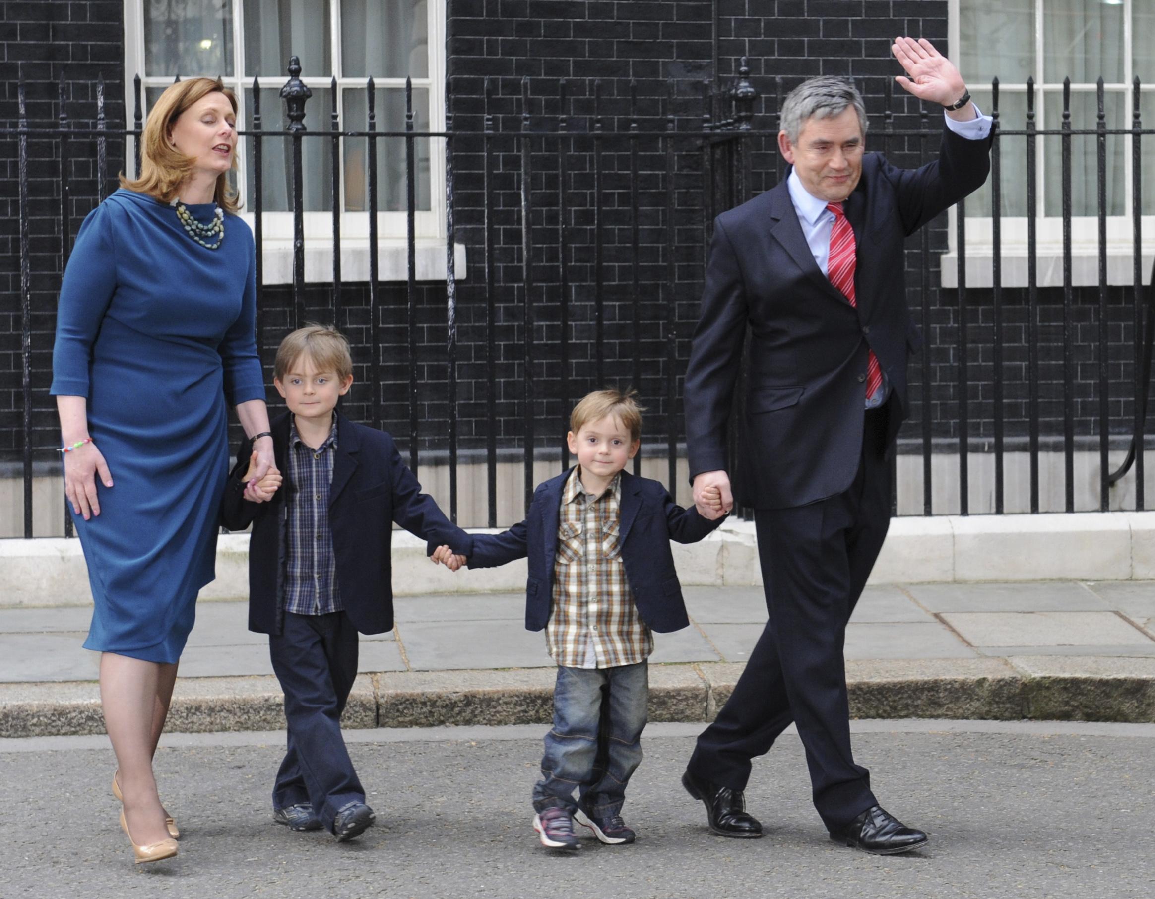 Gordon Brown and family