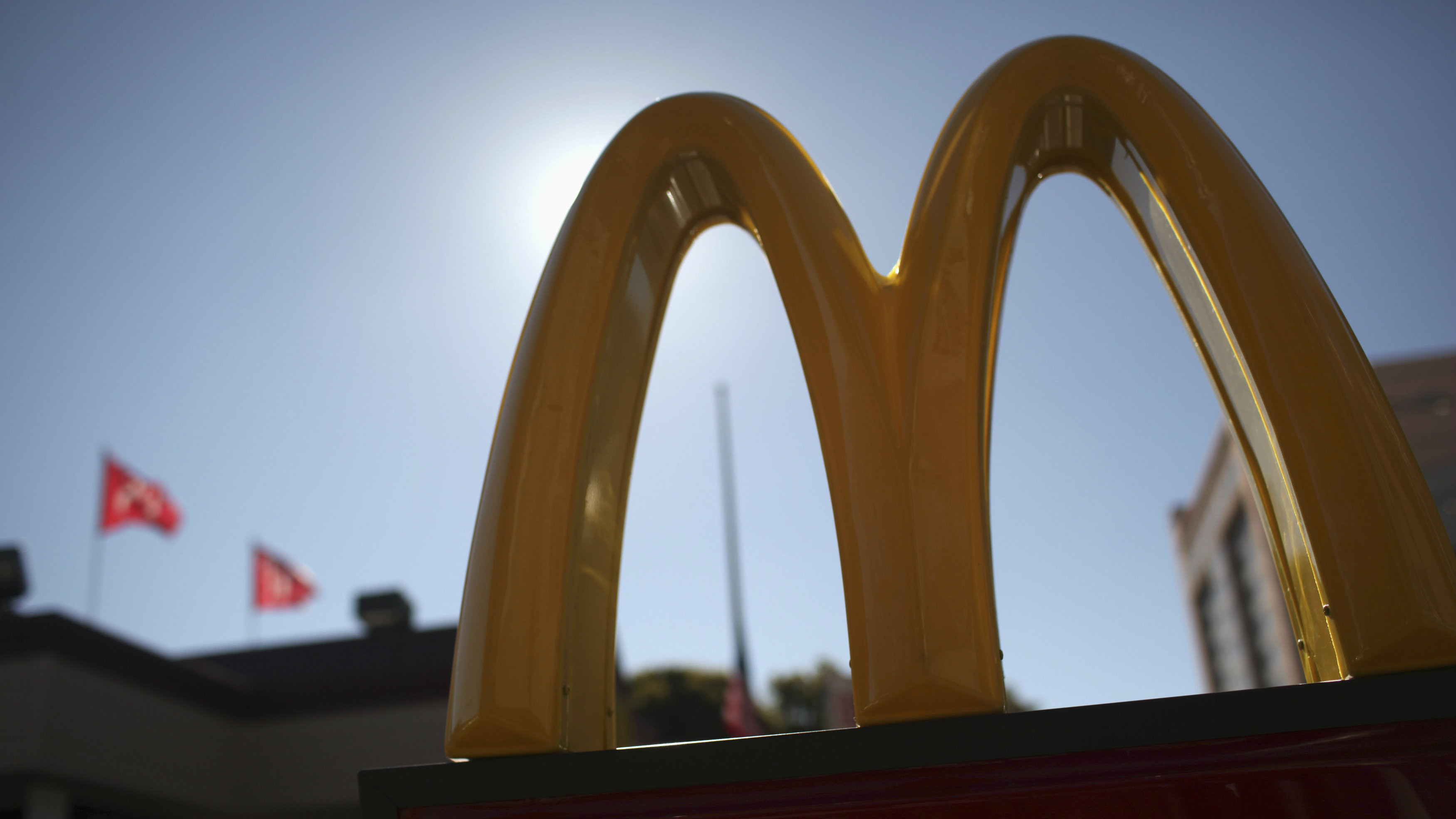 The McDonald's logo is pictured outside a McDonald's restaurant in the Fillmore District of San Francisco, California January 30, 2013.